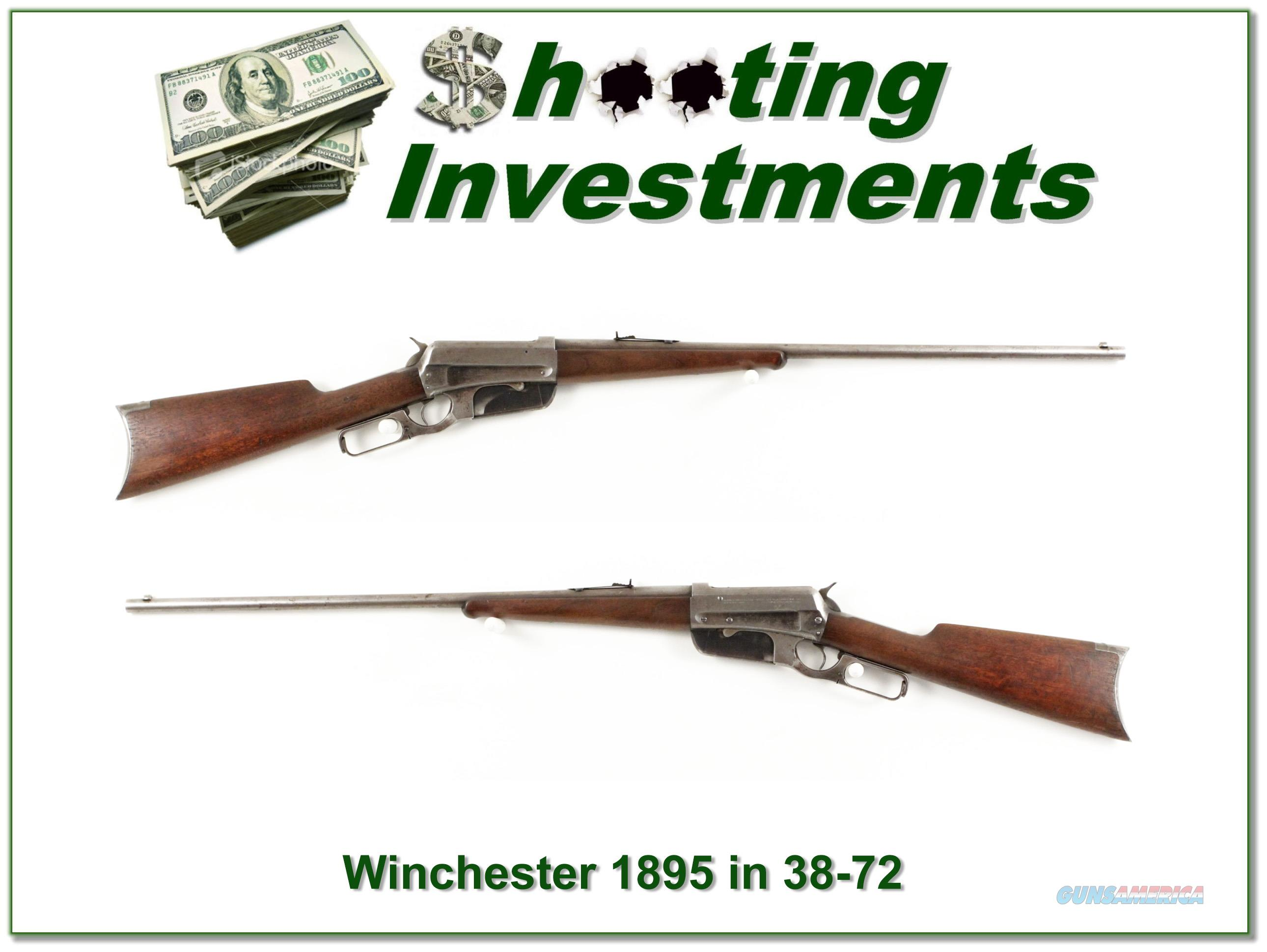 Winchester 1895 in hard to find 38-72 WCF 1903  Guns > Rifles > Winchester Rifles - Modern Lever > Other Lever > Pre-64