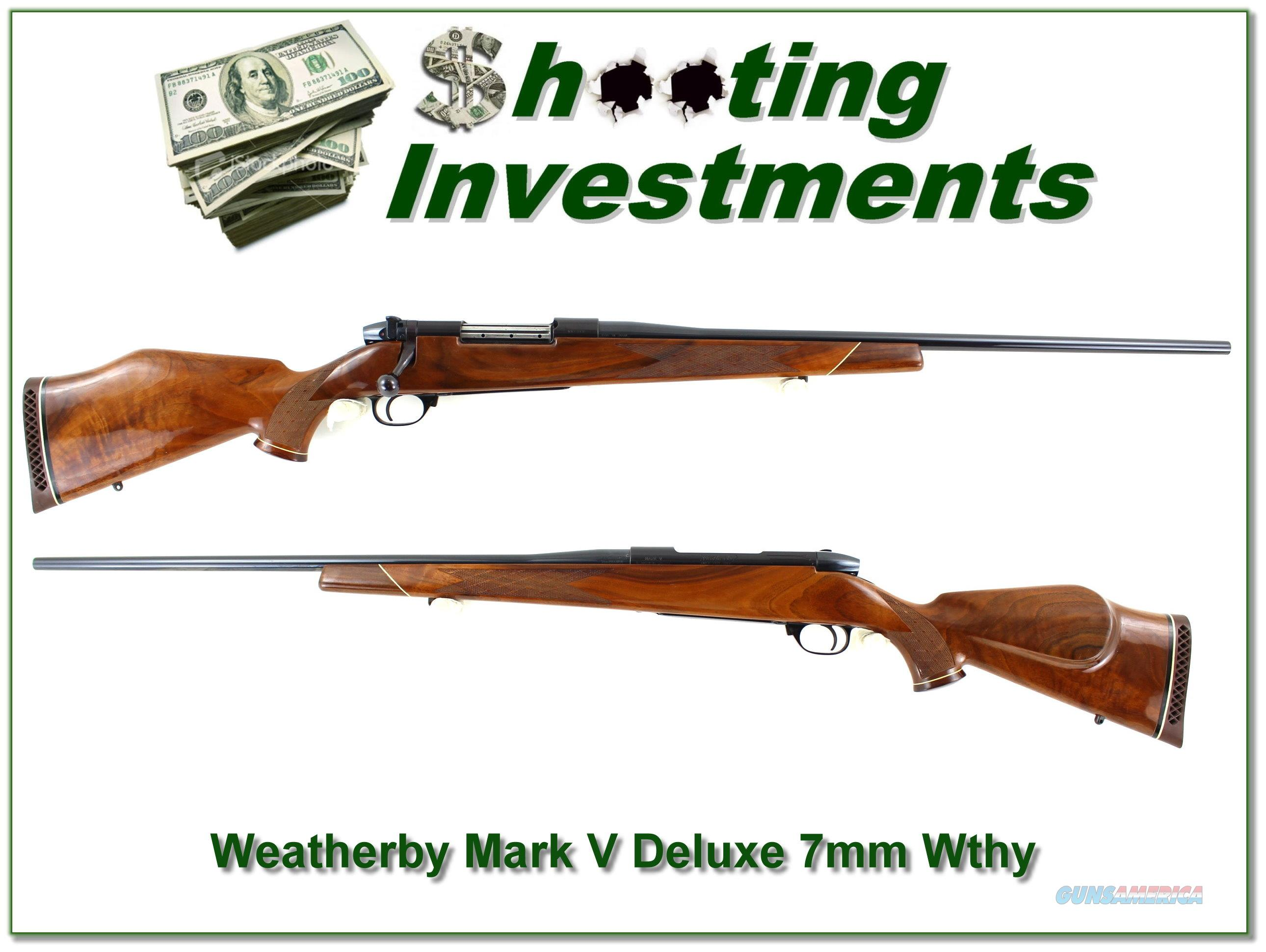 Weatherby Mark V Deluxe 7mm Wthy Mag XX Wood!  Guns > Rifles > Weatherby Rifles > Sporting
