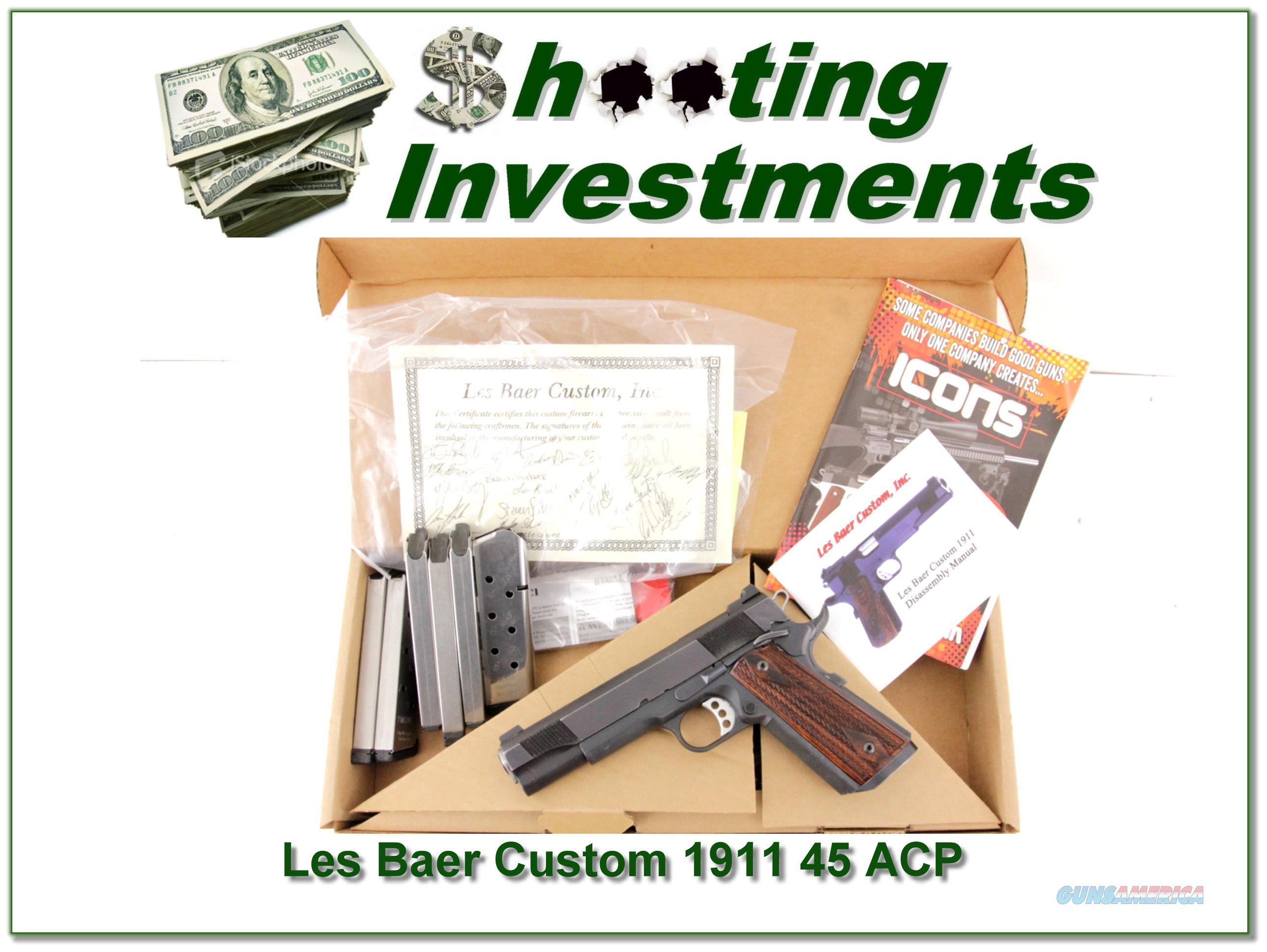 Les Baer Custom 45 ACP in box 6 Magazines  Guns > Pistols > Les Baer Pistols