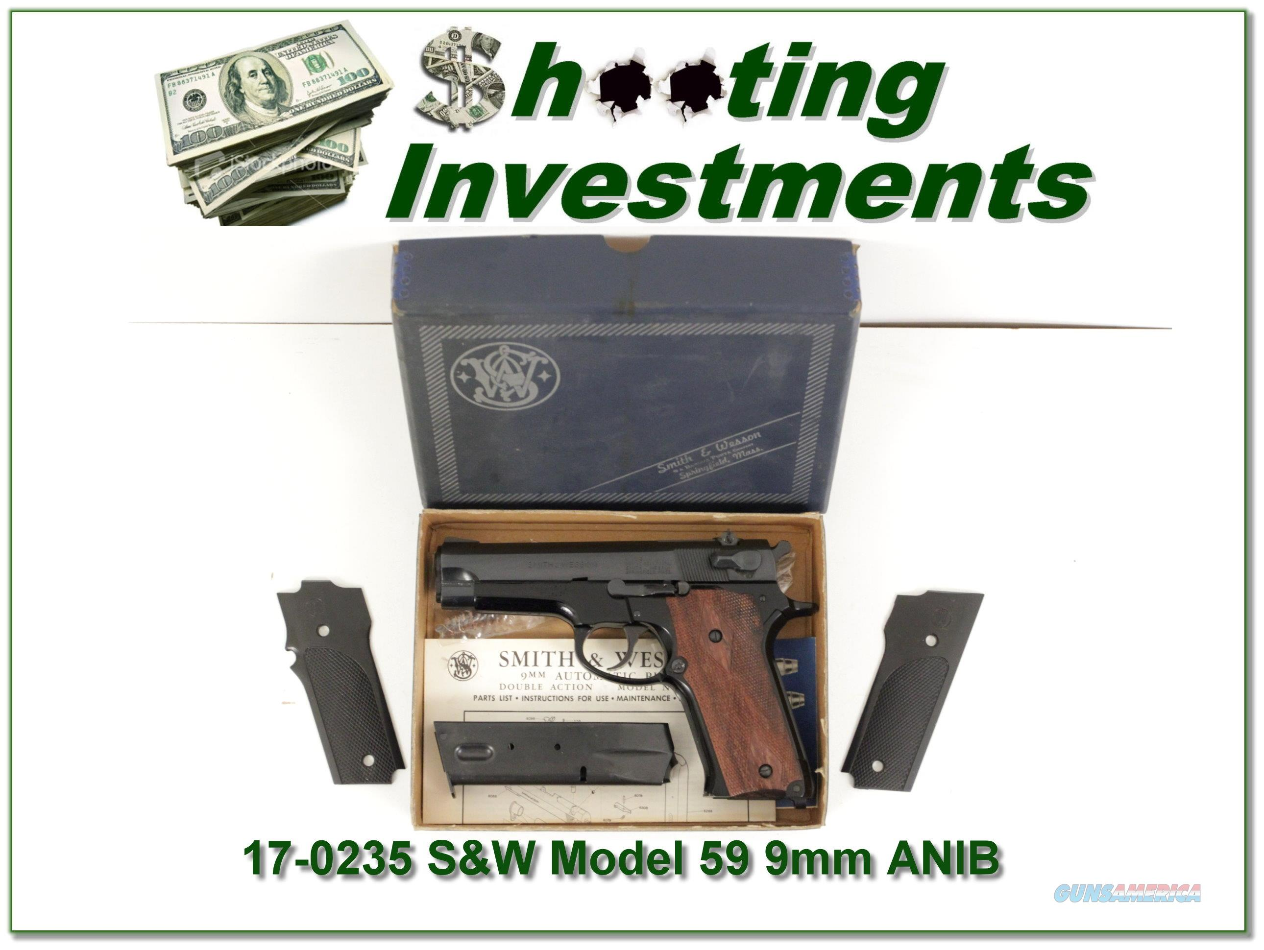 Smith & Wesson 59 9mm Exc Cond in box!  Guns > Pistols > Smith & Wesson Pistols - Autos > Steel Frame