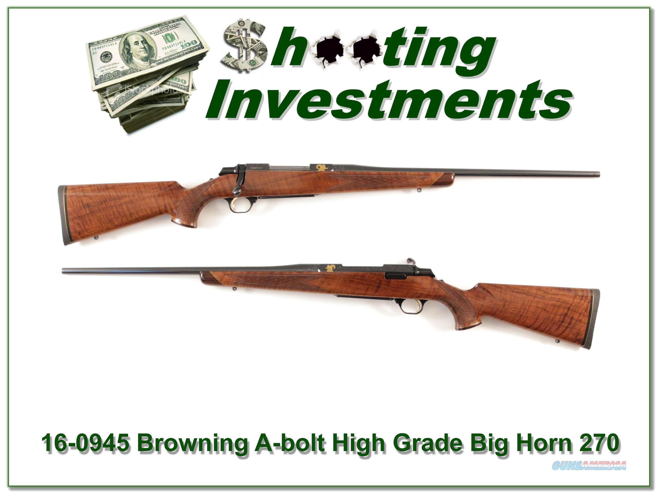 Browning A-bolt Big Horn 270  Guns > Rifles > Browning Rifles > Bolt Action > Hunting > Blue
