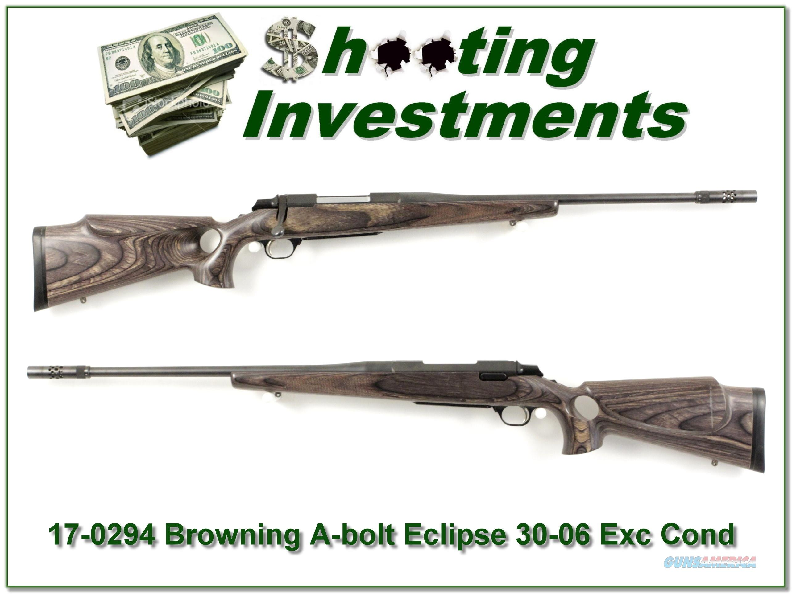 Browning A-bolt Eclipse Laminated 30-06 with BOSS  Guns > Rifles > Browning Rifles > Bolt Action > Hunting > Blue