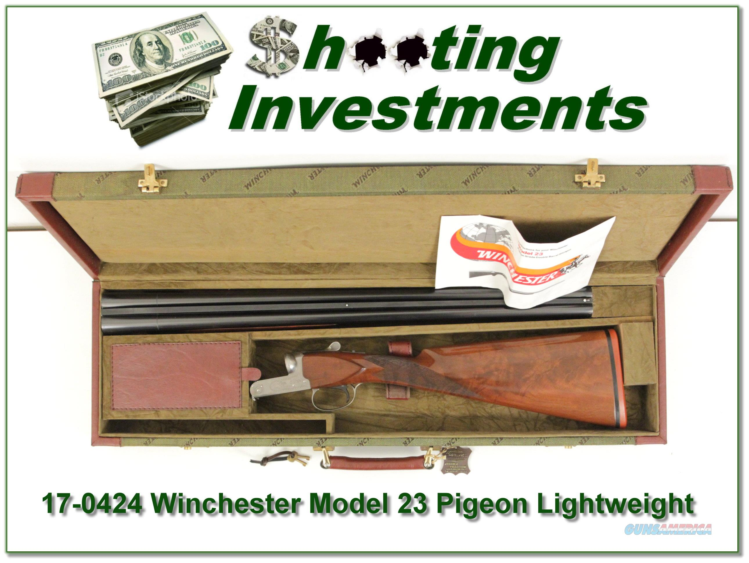 Winchester Model 23 Lightweight Pigeon Grade  Guns > Shotguns > Winchester Shotguns - Modern > Pump Action > Hunting