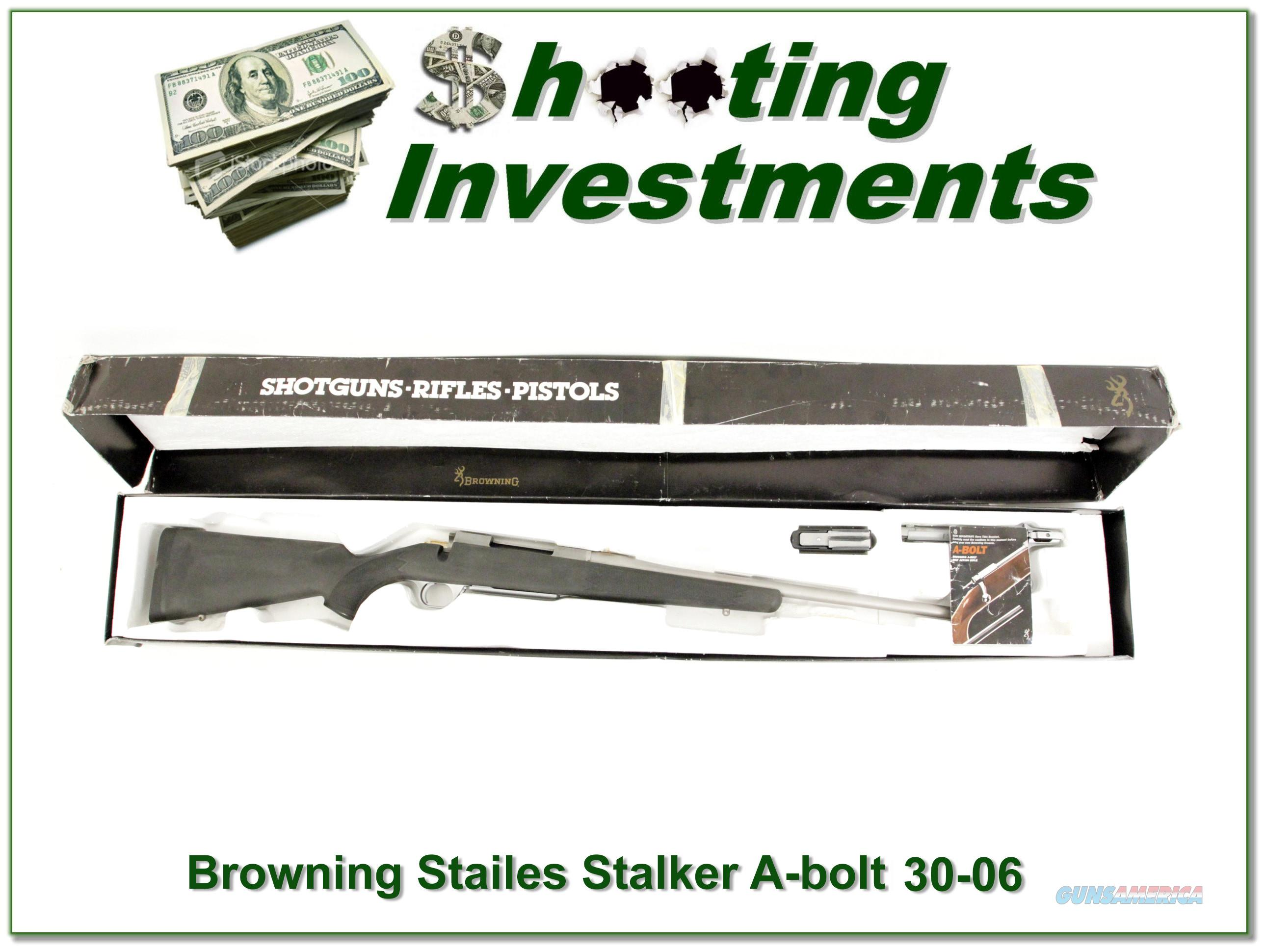 Browning A-bolt Stainless Stalker 30-06 NNIB  Guns > Rifles > Browning Rifles > Bolt Action > Hunting > Stainless