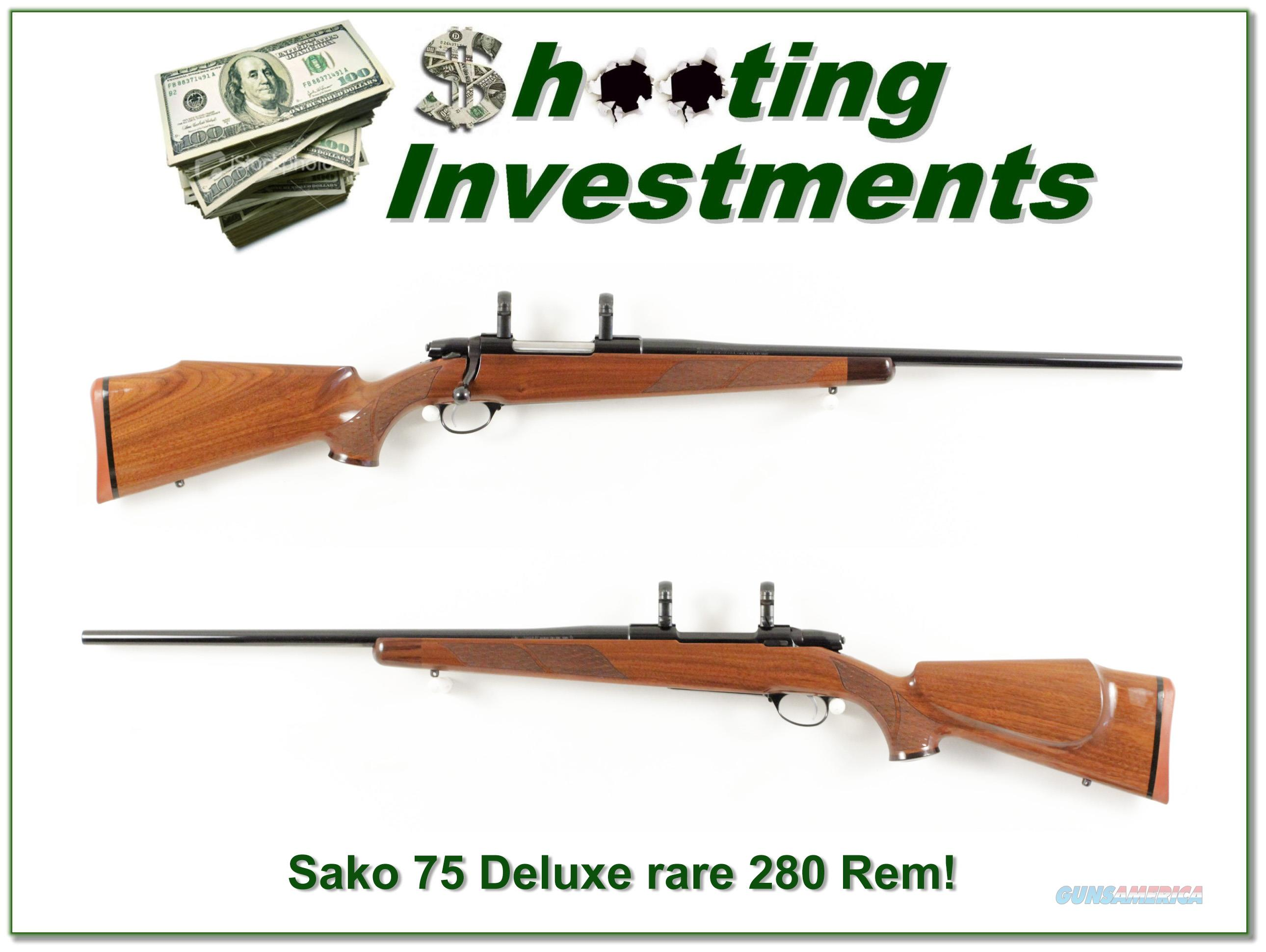 Sako 75 Deluxe RARE 280 Remington as new!  Guns > Rifles > Sako Rifles > Other Bolt Action