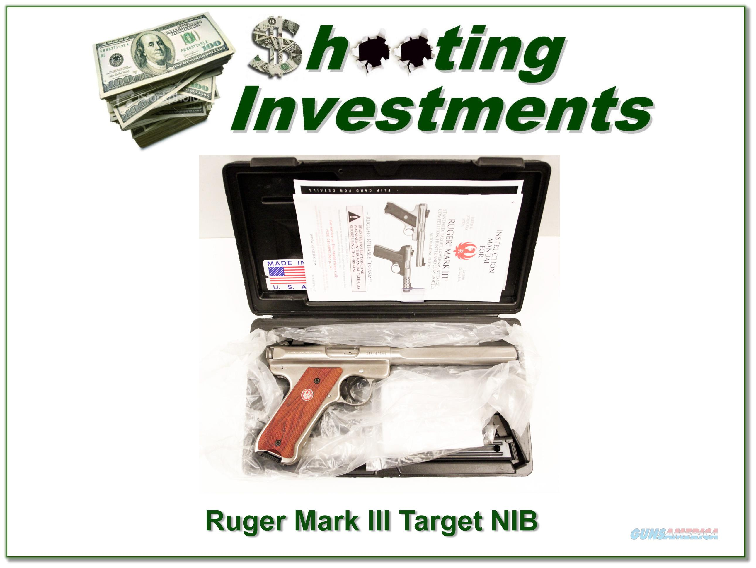Ruger Mark III Target Stainless 22 NIC!  Guns > Pistols > Ruger Semi-Auto Pistols > Mark I/II/III/IV Family