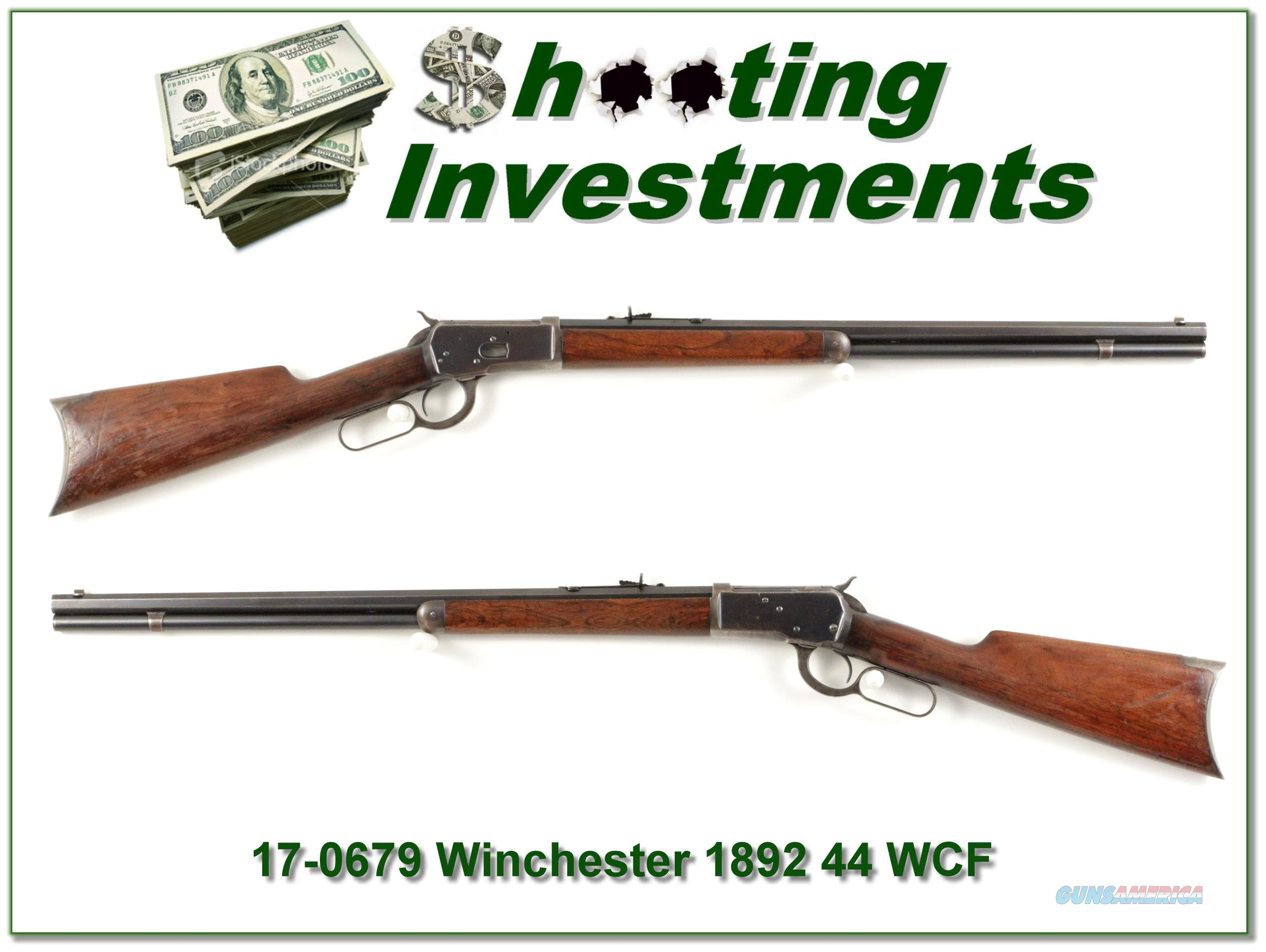 Winchester 1892 in rare 44 WCF made in 1903!  Guns > Rifles > Winchester Rifles - Modern Lever > Other Lever > Pre-64