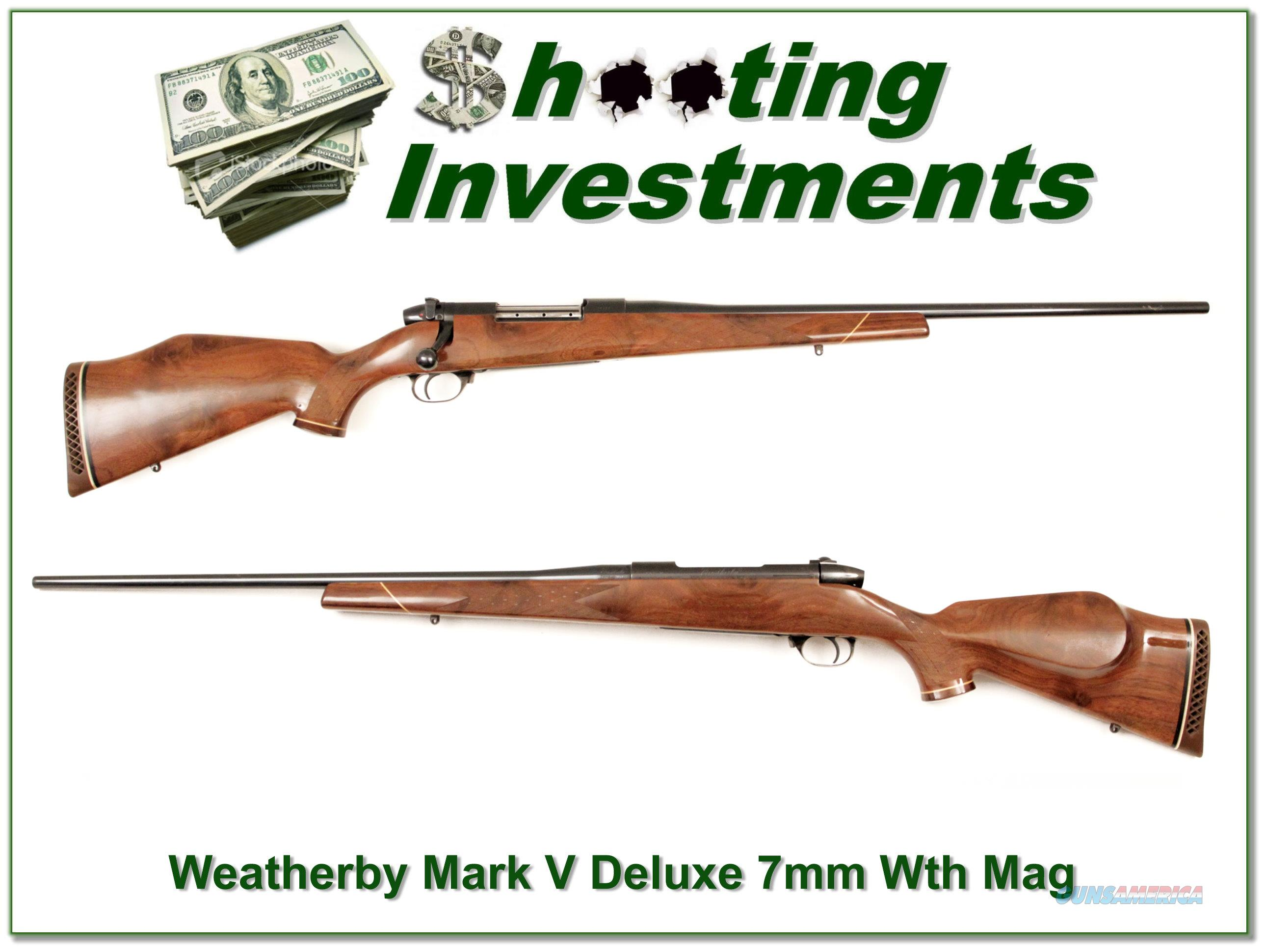 Weatherby Mark V Deluxe 7mm Wthy mag!  Guns > Rifles > Weatherby Rifles > Sporting