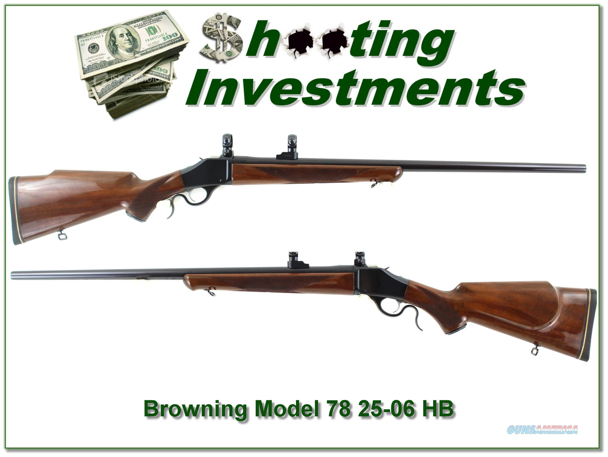 Browning Model 78 had to find 25-06 26in Heavy Barrel  Guns > Rifles > Browning Rifles > Single Shot
