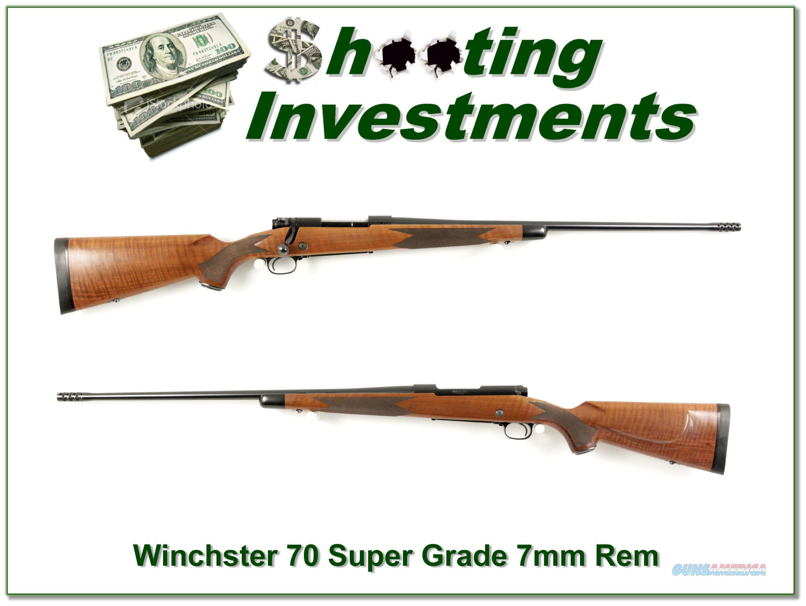 Winchester 70 Classic Super Grade 7mm XX Exc Cond!  Guns > Rifles > Winchester Rifles - Modern Bolt/Auto/Single > Model 70 > Post-64