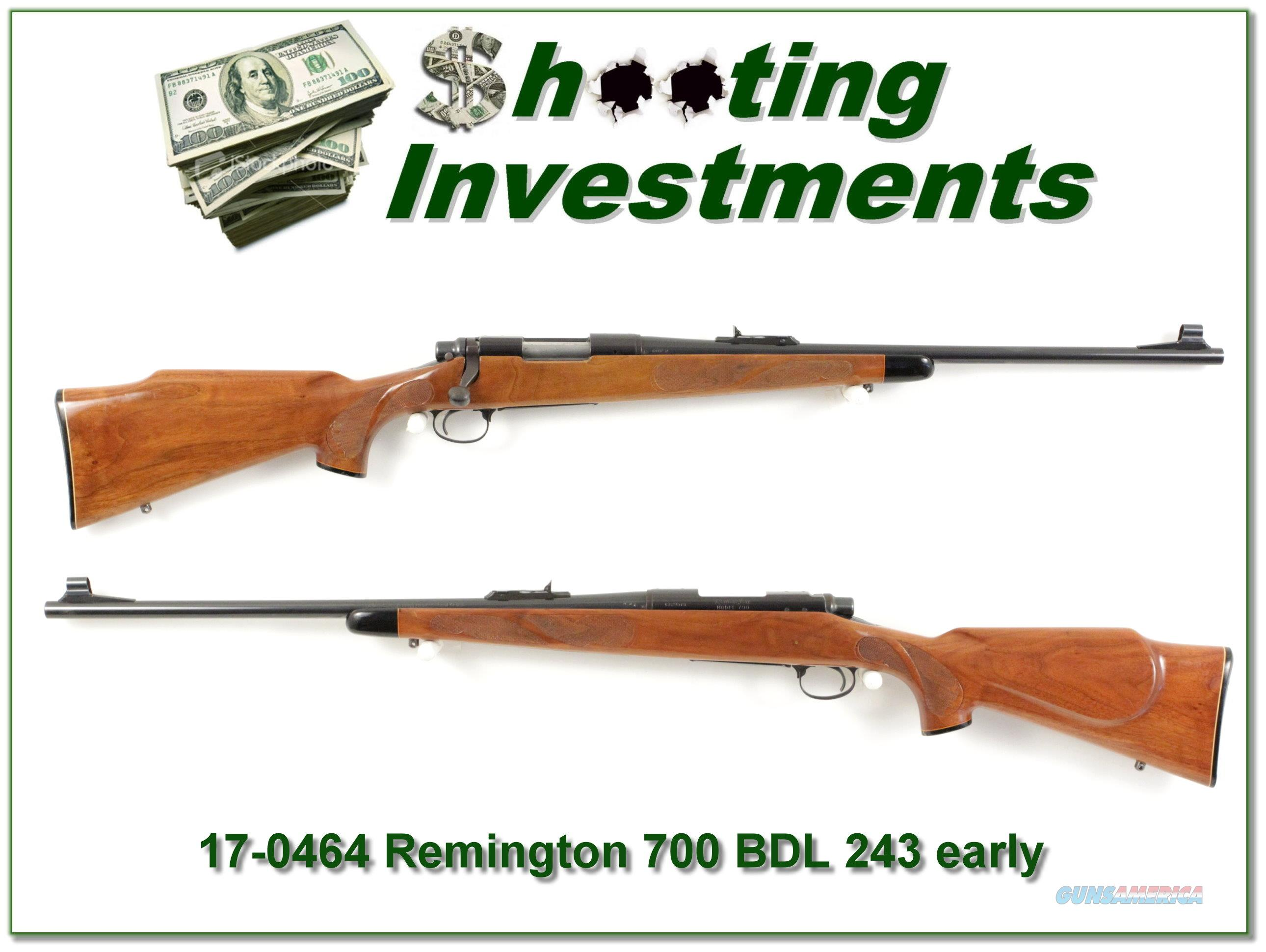 Remington 700 BDL early 243 Pressed Checkering  Guns > Rifles > Remington Rifles - Modern > Model 700 > Sporting