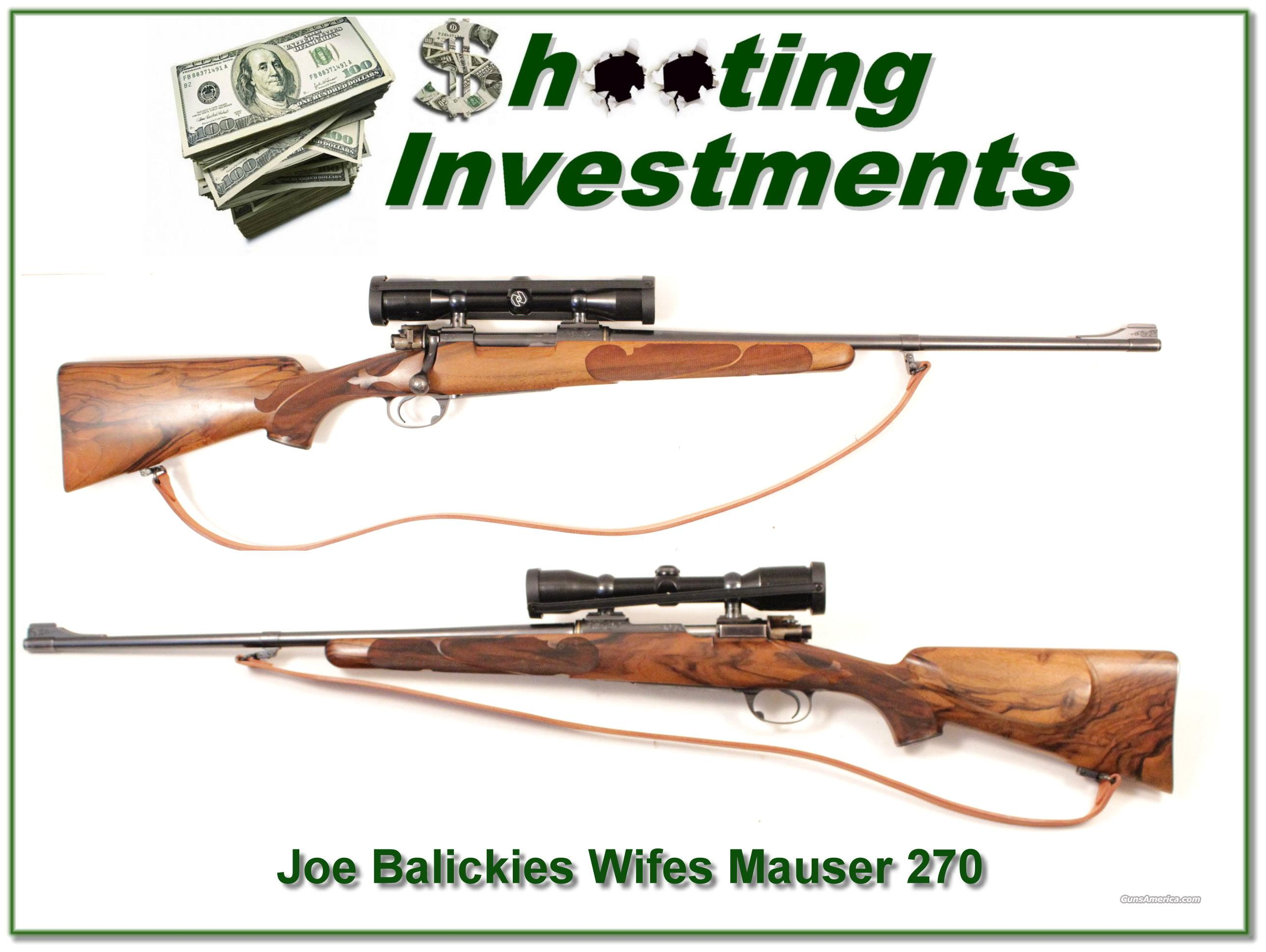 Joe Balickie custom Mauser, his wife's personal Hunting Rifle!  Guns > Rifles > Mauser Rifles > German