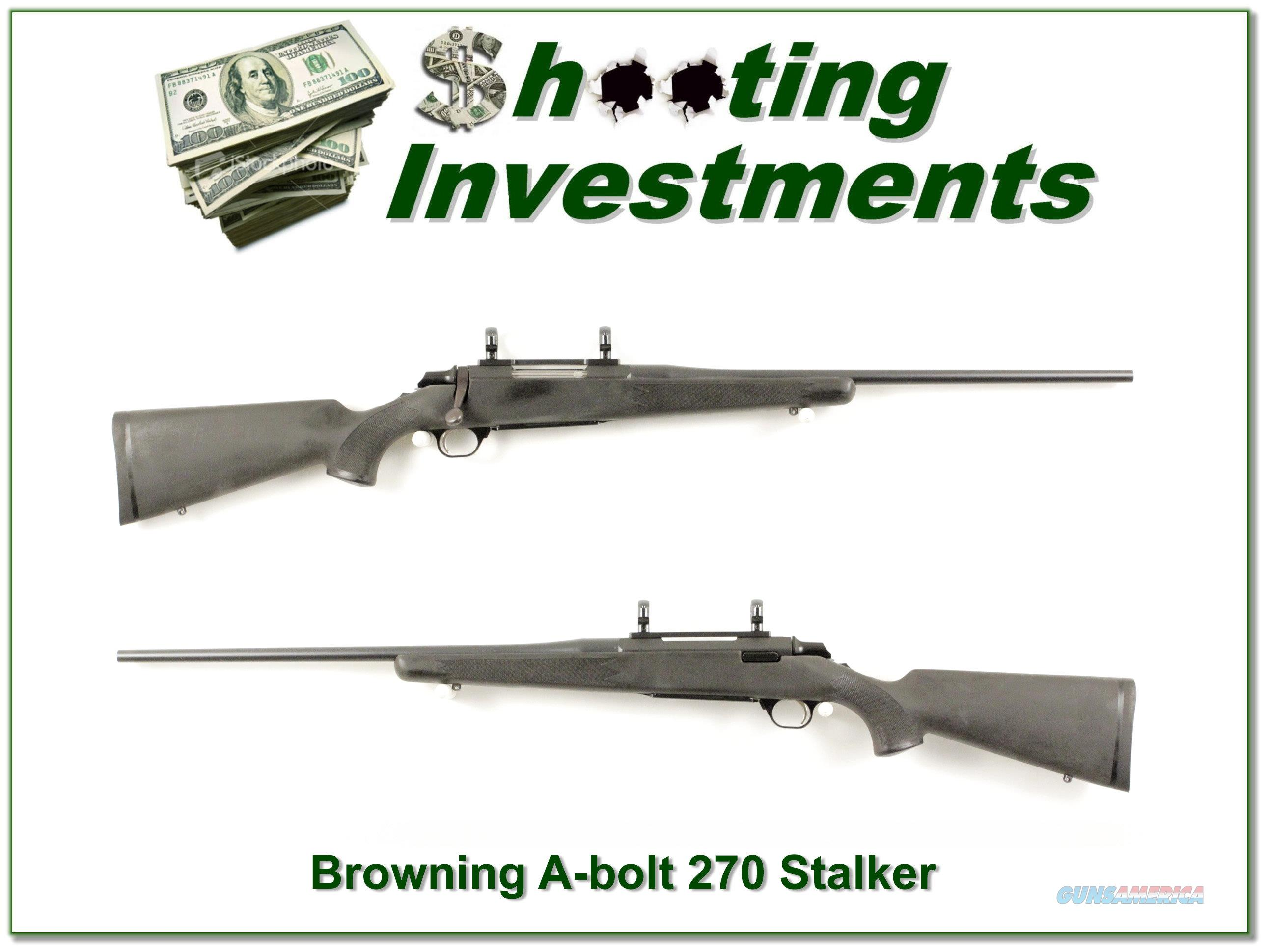 Browning A-bolt 270 Stalker 22in  Guns > Rifles > Browning Rifles > Bolt Action > Hunting > Blue