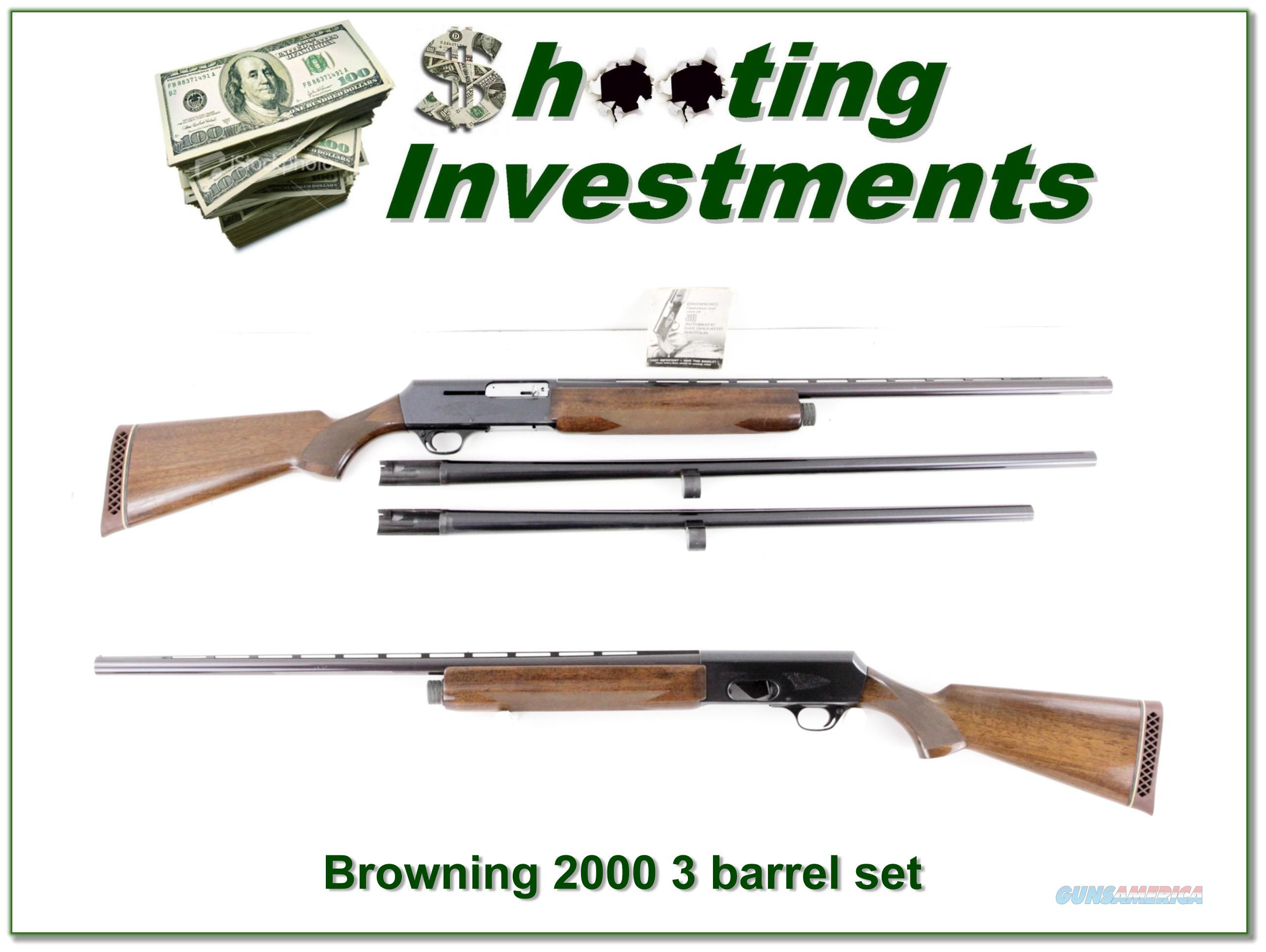 Browning 2000 75 Belgium 12 Ga 3-barrel set!  Guns > Shotguns > Browning Shotguns > Autoloaders > Hunting