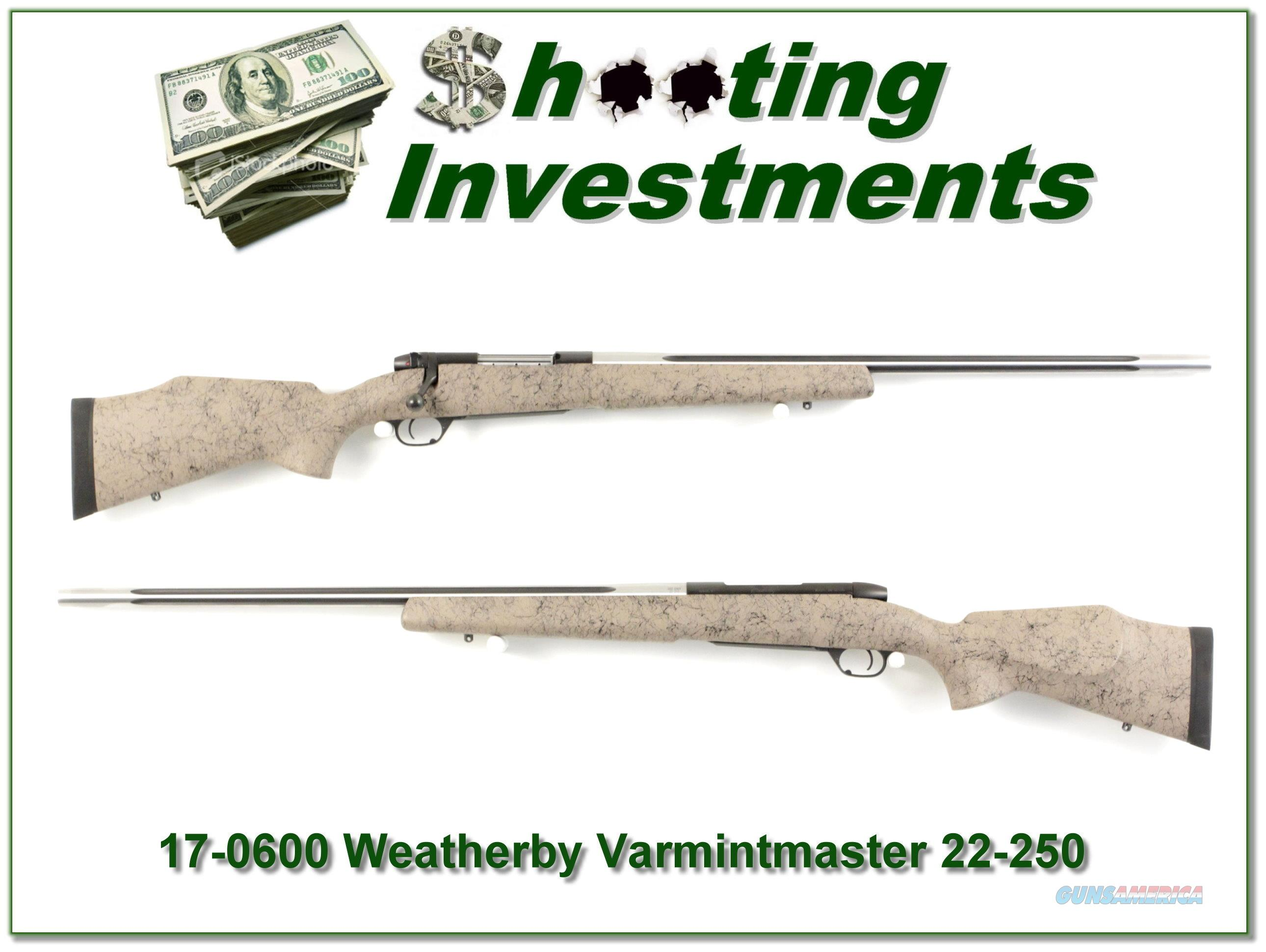 Weatherby Mark V 22-250 Super Varmintmaster Exc Cond  Guns > Rifles > Weatherby Rifles > Sporting
