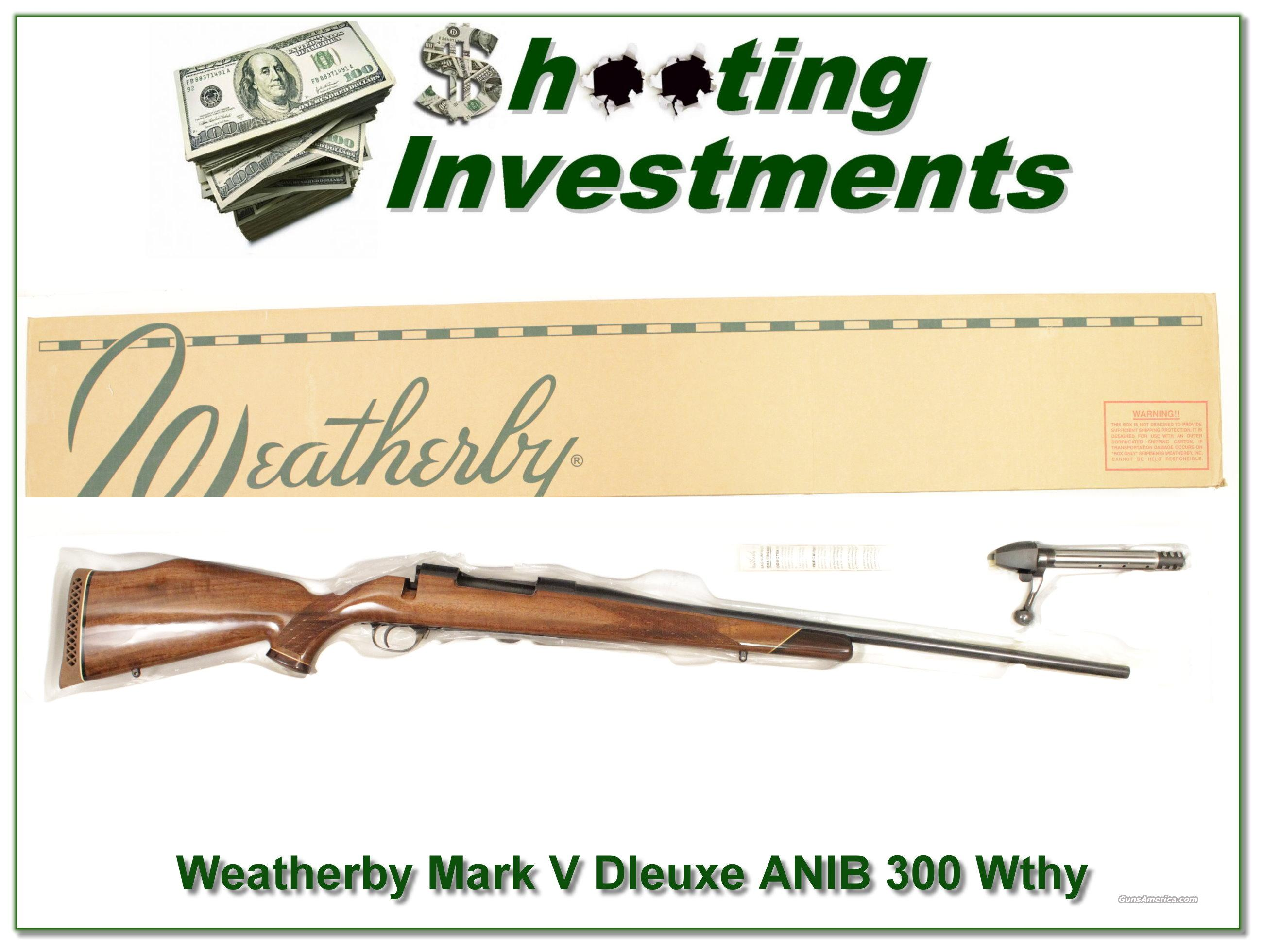 Weatherby Mark V Deluxe 300 ANIB !  Guns > Rifles > Weatherby Rifles > Sporting