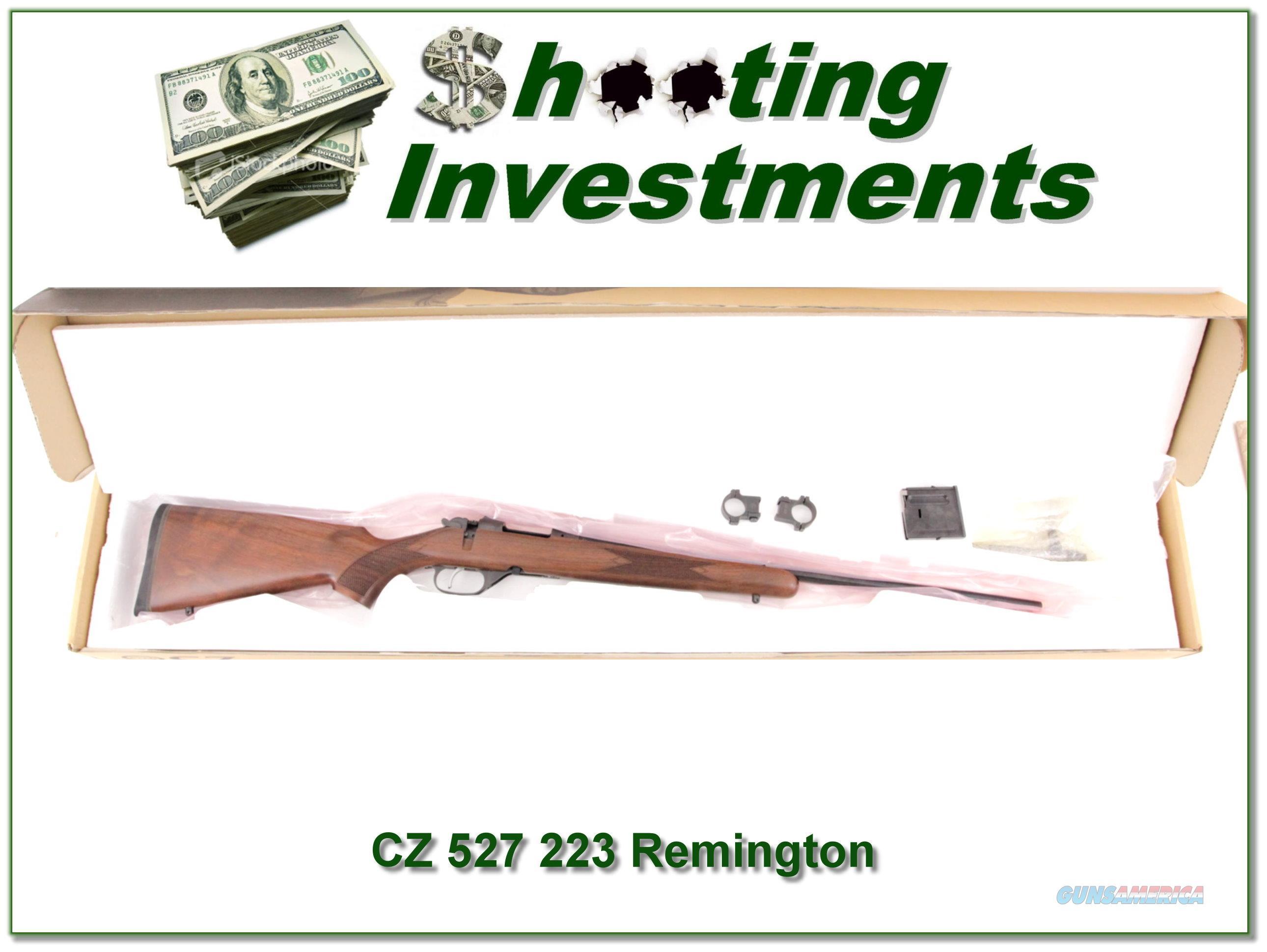 CZ 527 in 223 Remington Exc Cond  Guns > Rifles > CZ Rifles