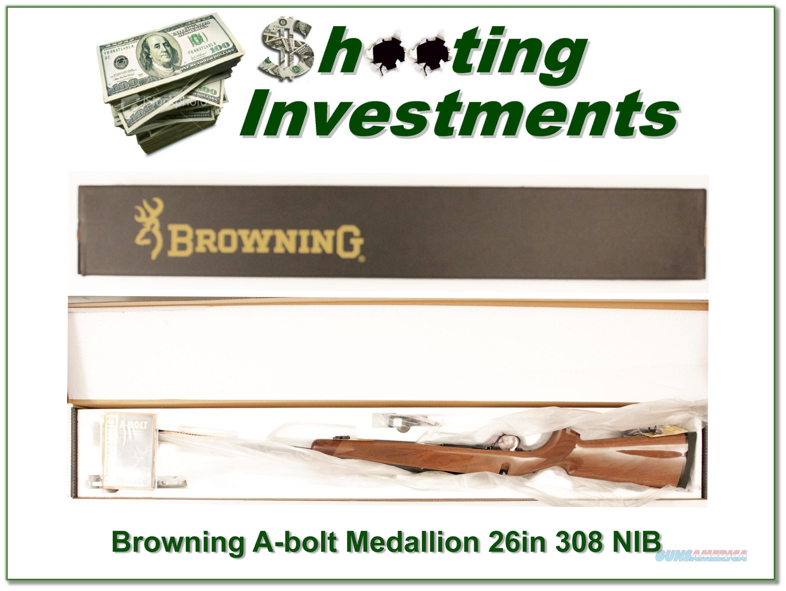Browning A-bolt II Medallion 308 Win last ones!  Guns > Rifles > Browning Rifles > Bolt Action > Hunting > Blue