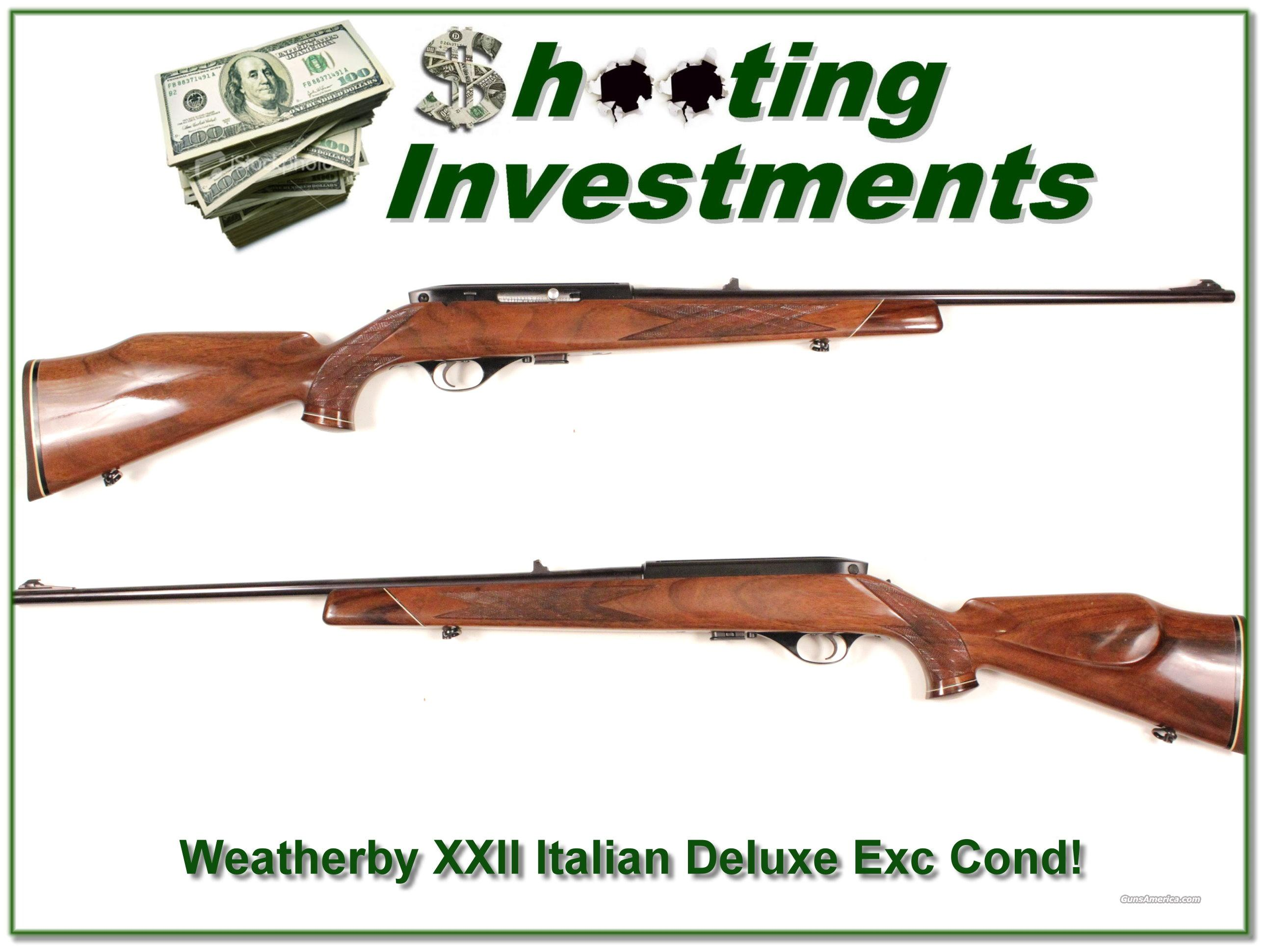 Weatherby XXII 22 auto Italian Deluxe Exc Cond!  Guns > Rifles > Weatherby Rifles > Sporting