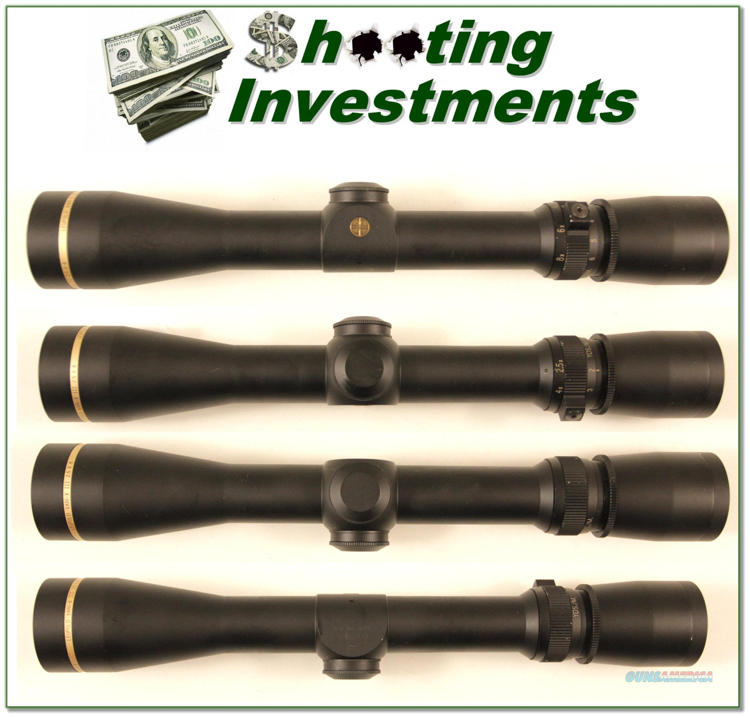 Leupold Vari-X III scope 2.5X8 Matt as new!  Non-Guns > Scopes/Mounts/Rings & Optics > Rifle Scopes > Variable Focal Length