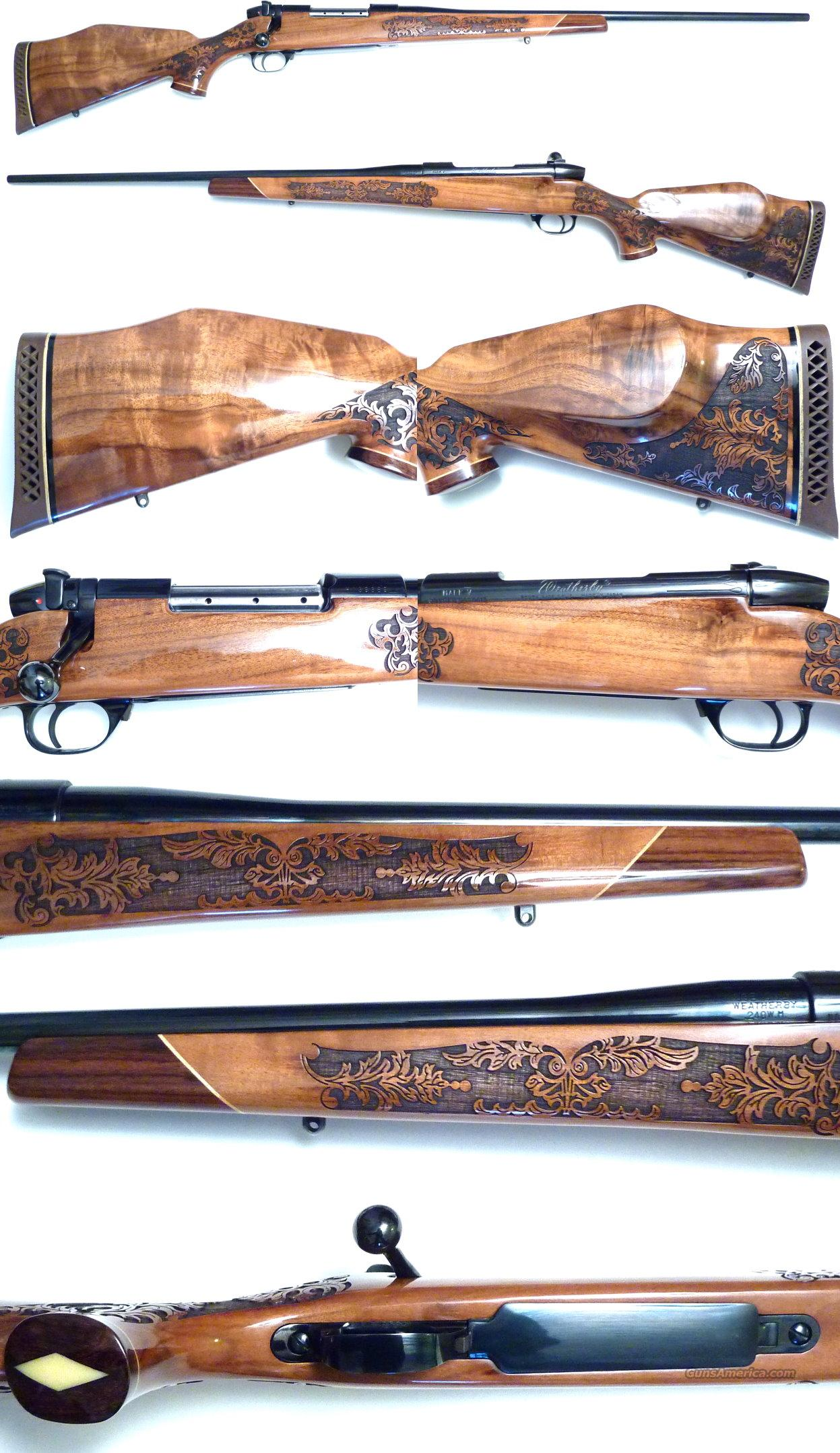 Weatherby Mark V 5 panel Lazermark 240 Wthy  Guns > Rifles > Weatherby Rifles > Sporting