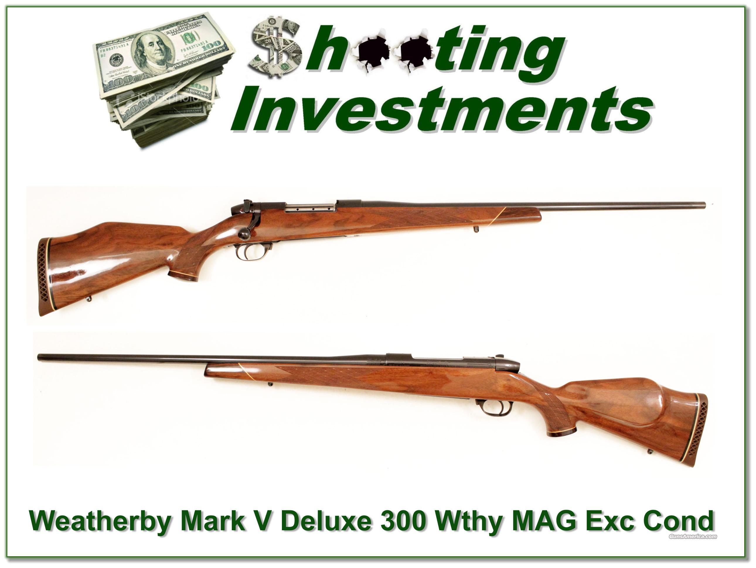 Weatherby Mark V Deluxe 300 near new  Guns > Rifles > Weatherby Rifles > Sporting