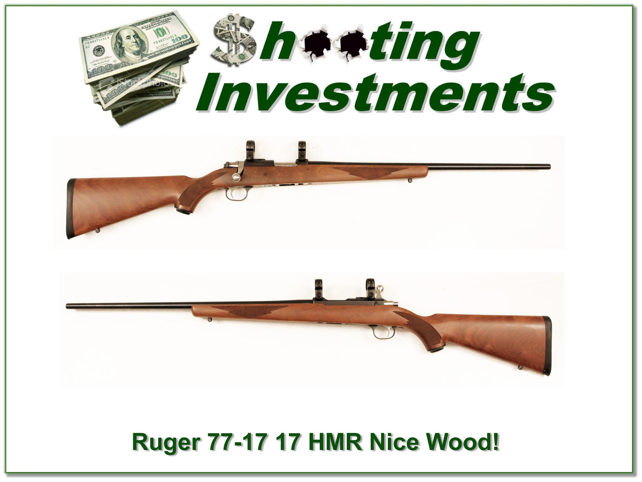 Ruger 77-17 17 HMR Nice Wood! Exc Cond!  Guns > Rifles > Ruger Rifles > Model 77