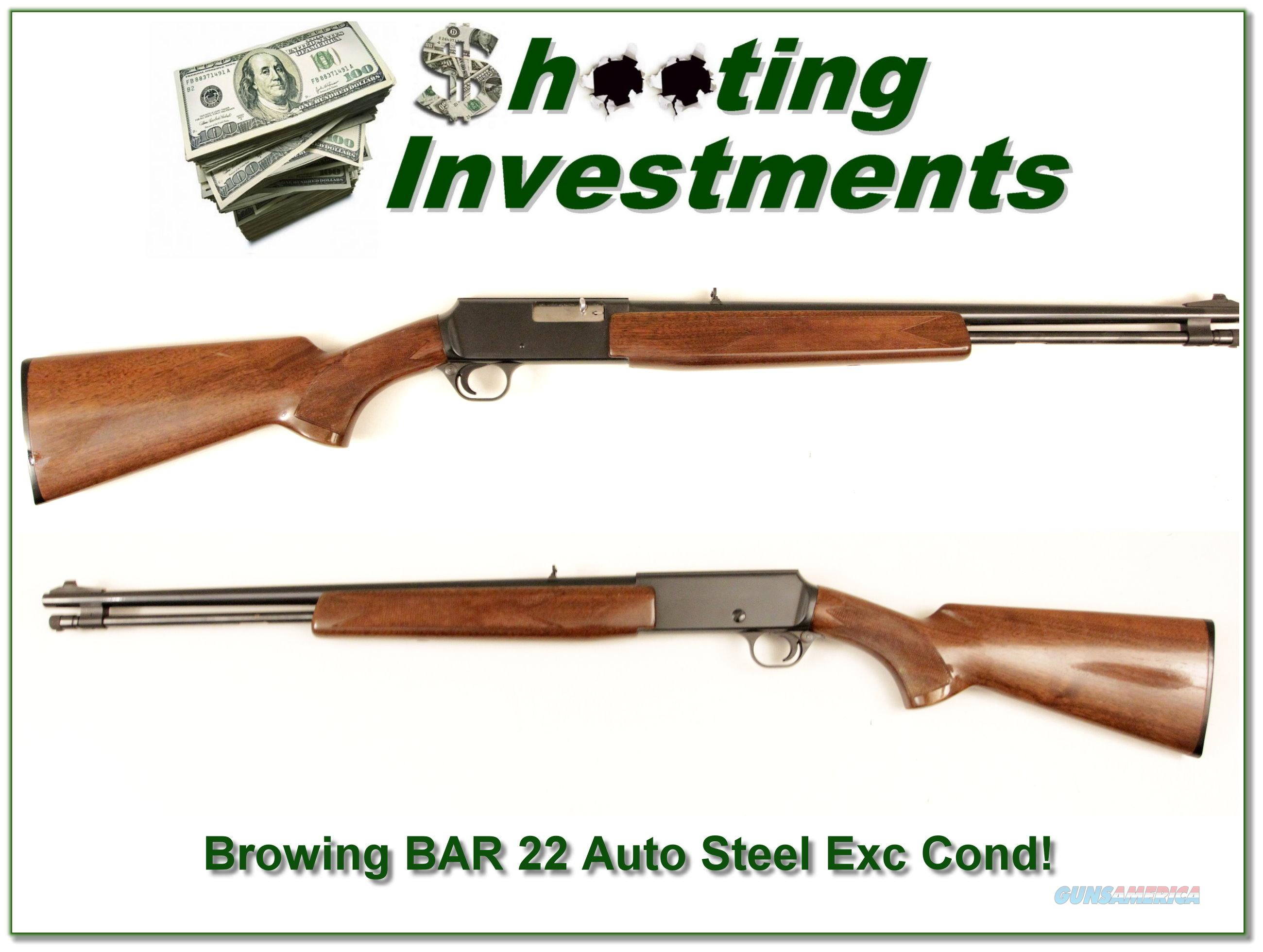 Browning BAR 22 Semi-auto 15 round tube!  Guns > Rifles > Browning Rifles > Semi Auto > Hunting