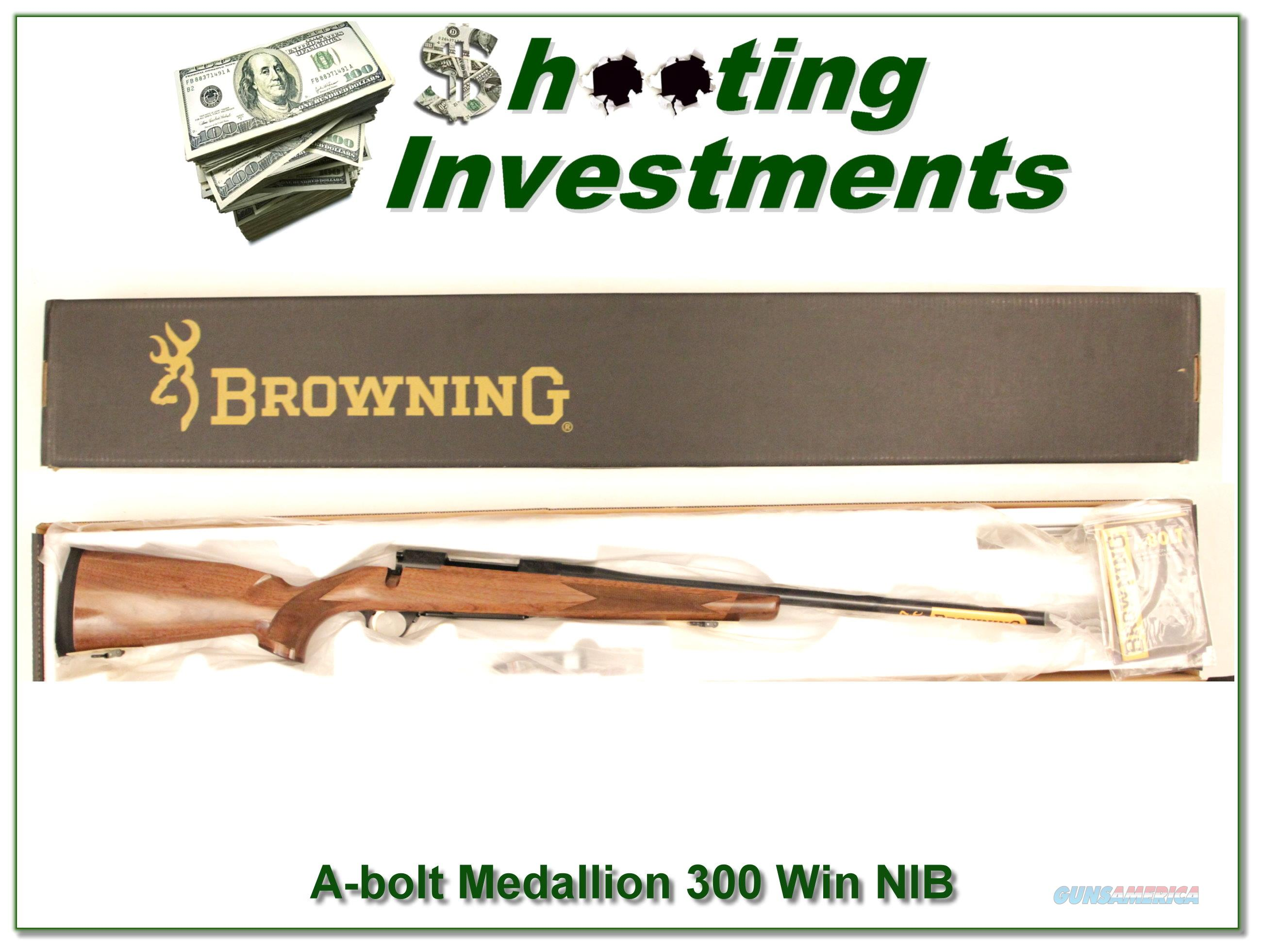 Browning A-bolt II Medallion 300 Win Mag last ones!  Guns > Rifles > Browning Rifles > Bolt Action > Hunting > Blue