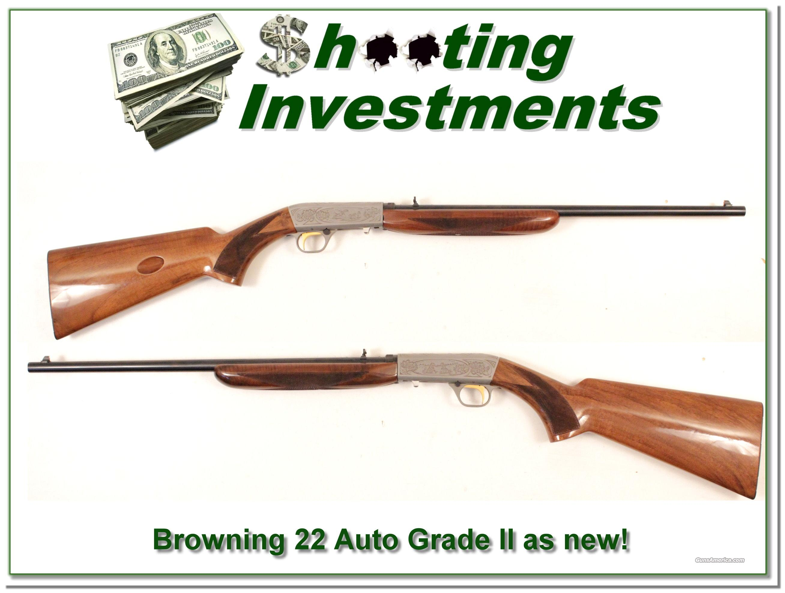 Browning 22 Auto Grade II Exc Cond!  Guns > Rifles > Browning Rifles > Semi Auto > Hunting