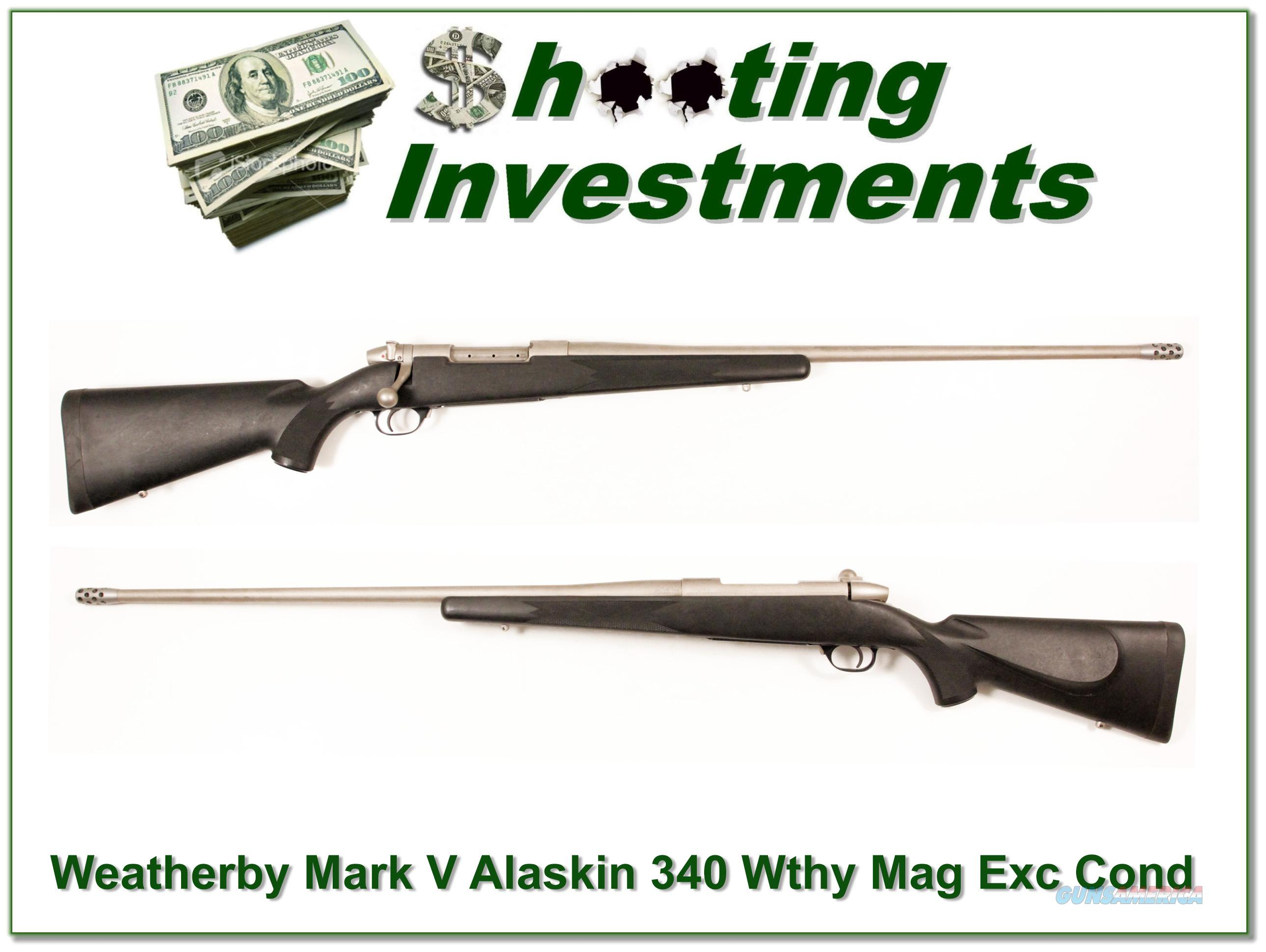 Weatherby Mark V Alaskan 340 Wthy Mag  Guns > Rifles > Weatherby Rifles > Sporting
