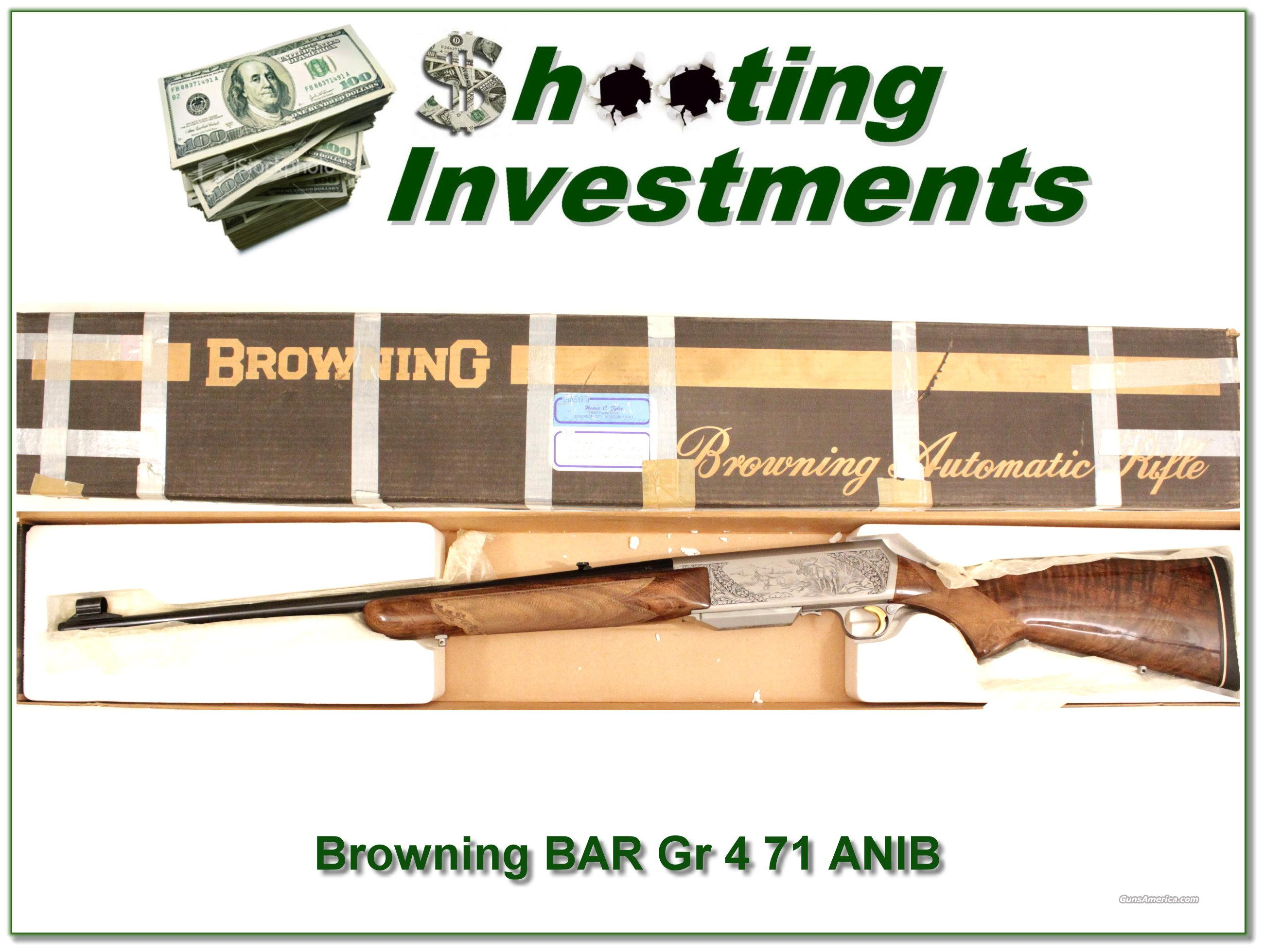 Browning BAR 7mm Grade 4 1971 Belgium ANIB  Guns > Rifles > Browning Rifles > Semi Auto > Hunting
