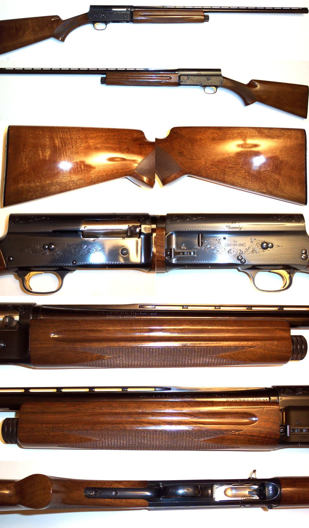 '71 Belgium Browning A5 20 gauge Exc Cond  Guns > Shotguns > Browning Shotguns > Autoloaders > Hunting