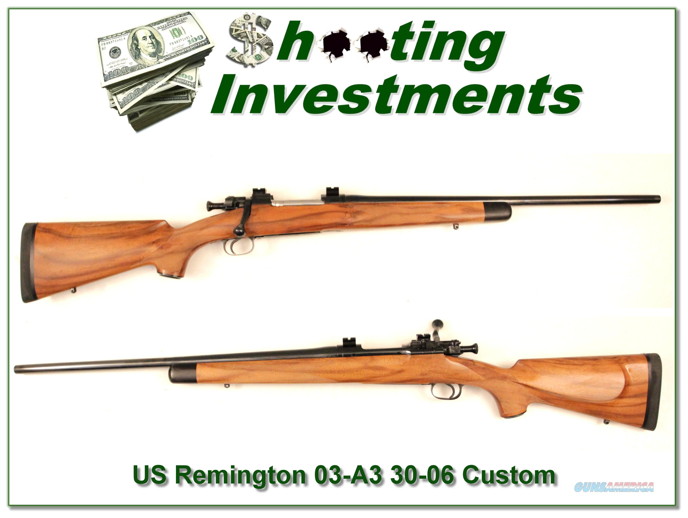 US Remington 03-A3 Custom Excellent!  Guns > Rifles > Remington Rifles - Modern > Bolt Action Non-Model 700 > Sporting