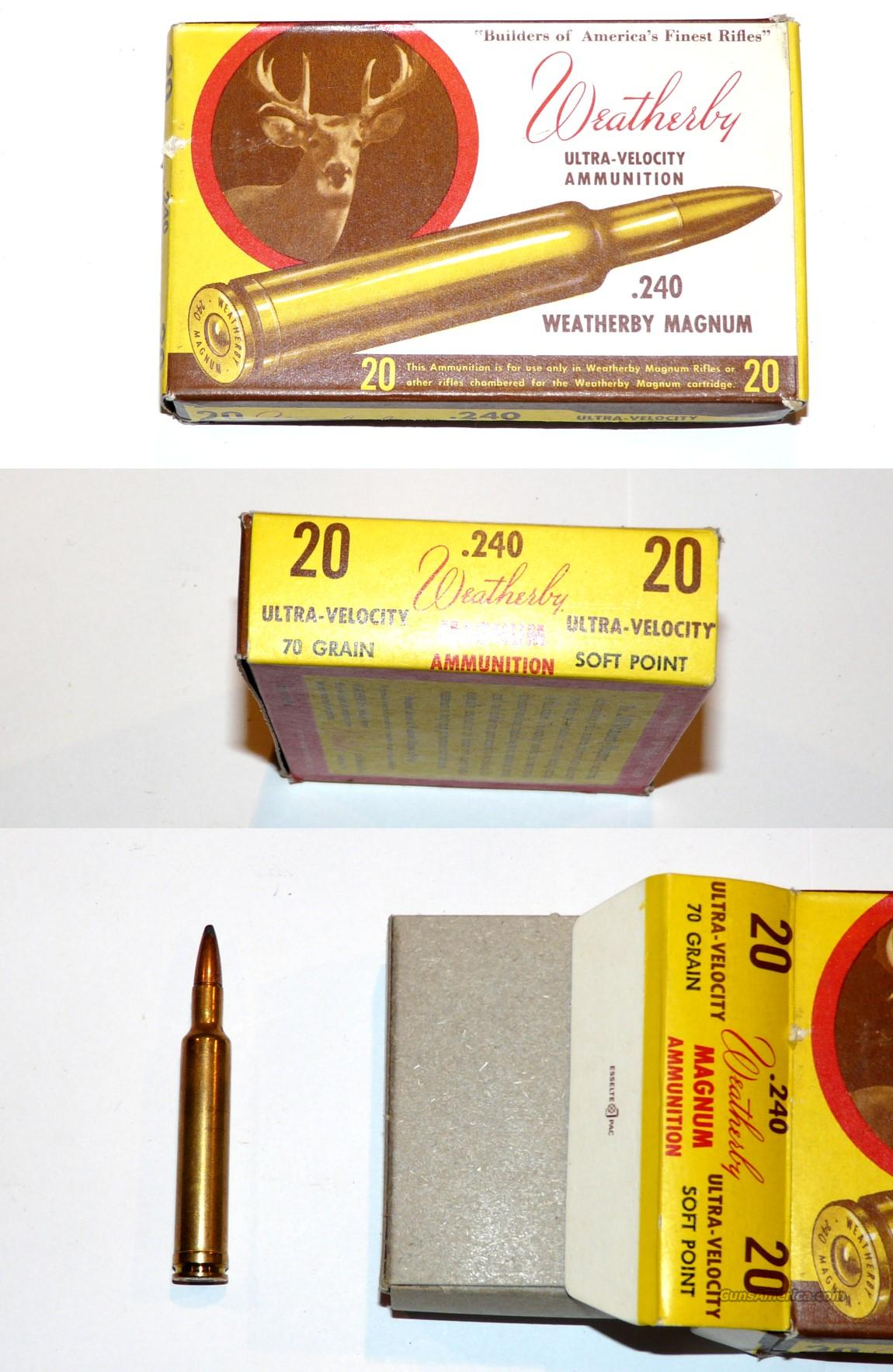 Weatherby 240 Factory ammo and brass  Non-Guns > Ammunition