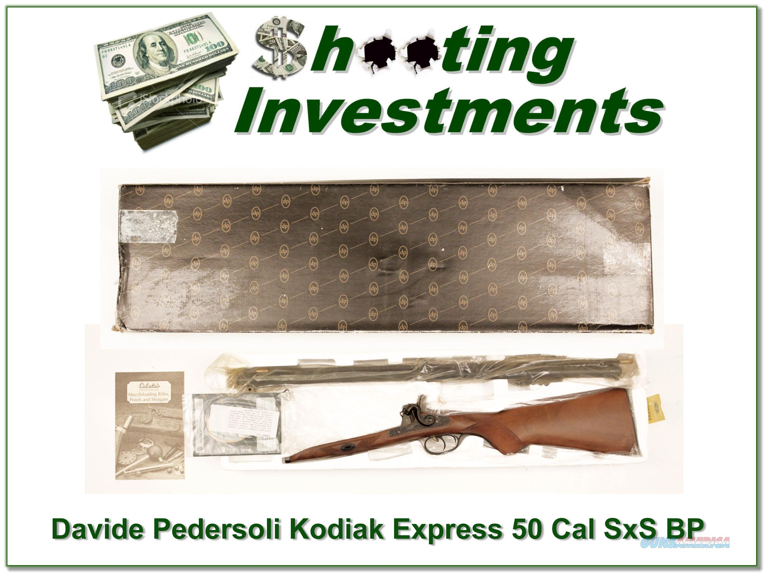 Davide Pedersoli Kodiak Express Double Barrel 50 Caliber  Guns > Rifles > Pedersoli Rifles > Flintlock