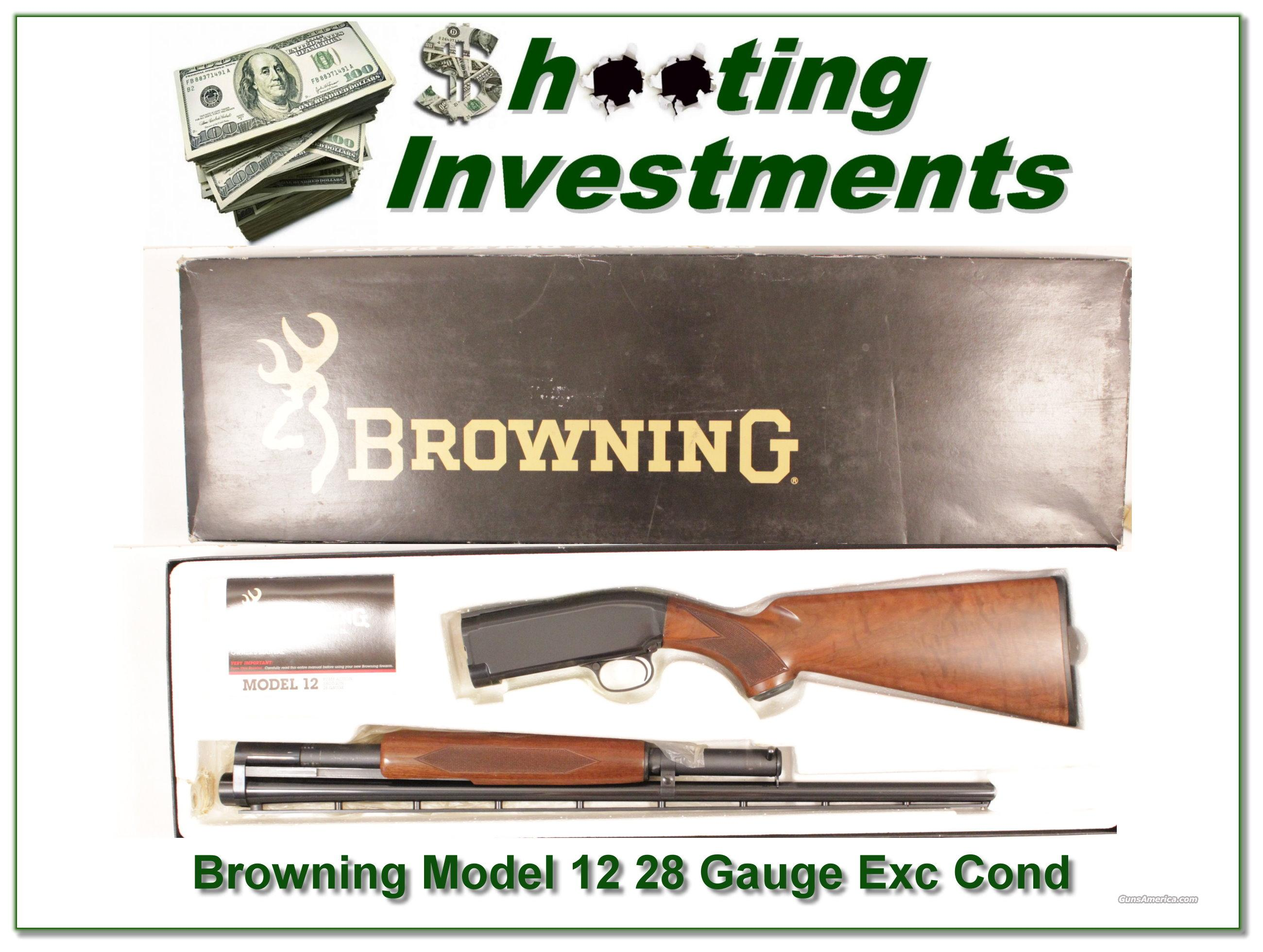 Browning Model 12 28 Gauge Exc Cond in box!  Guns > Rifles > Browning Rifles > Bolt Action > Hunting > Blue