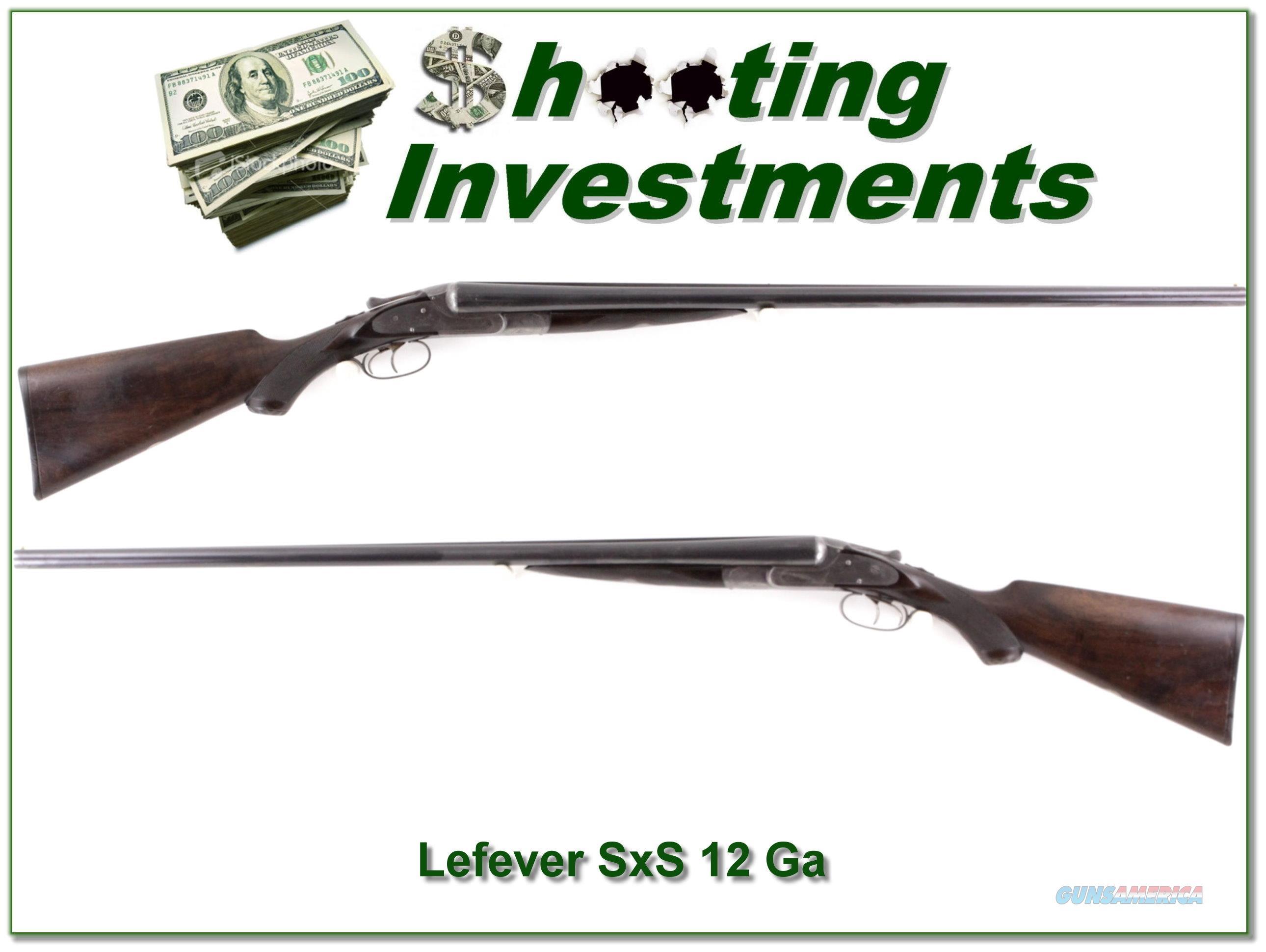 LeFever E-Grade 12 Ga 30in full & full  Guns > Shotguns > Lefever Shotguns
