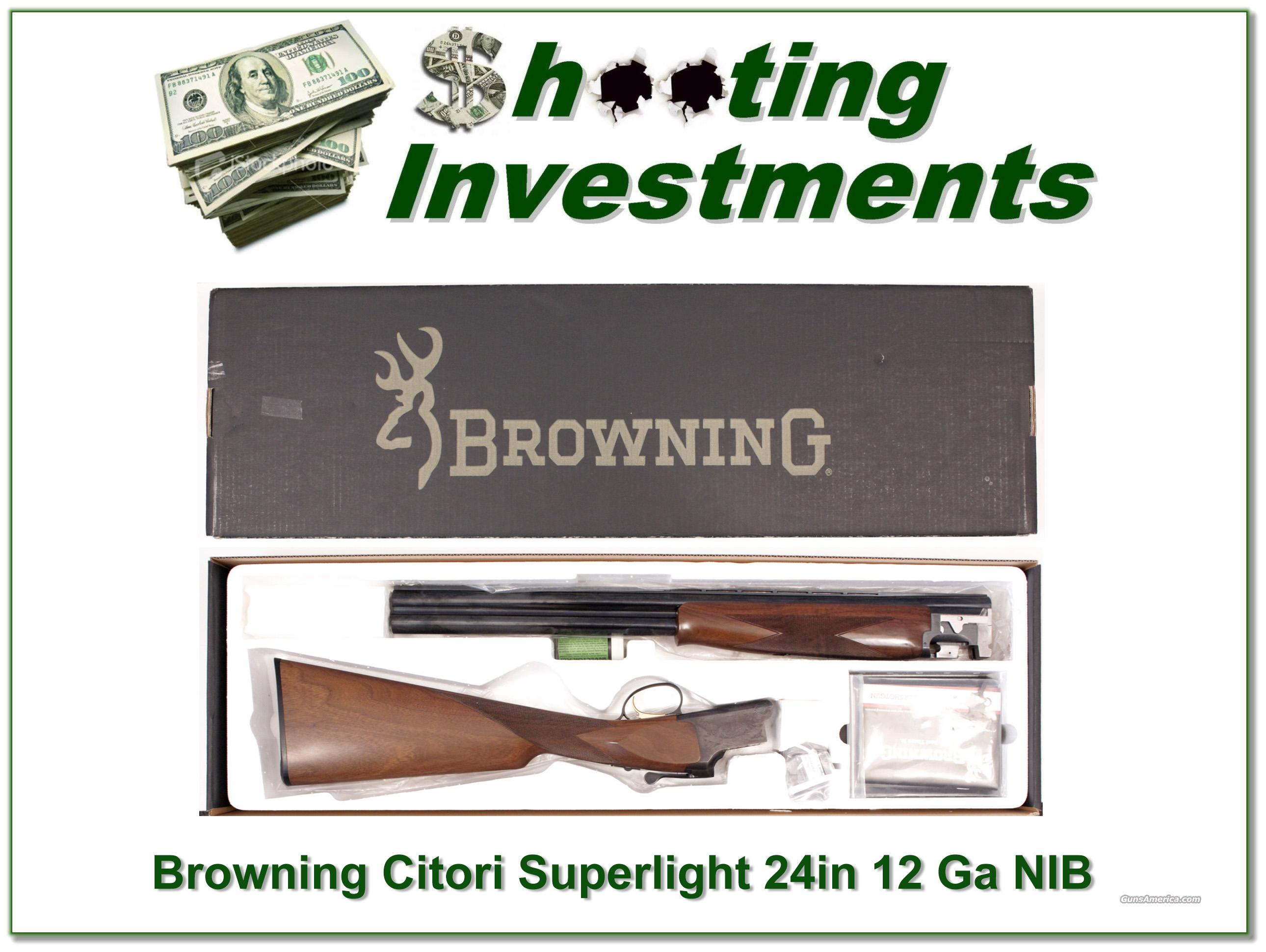 Browning Citori Superlight 12 Gauge RARE 24 in Invector Plus  Guns > Shotguns > Browning Shotguns > Over Unders > Citori > Hunting