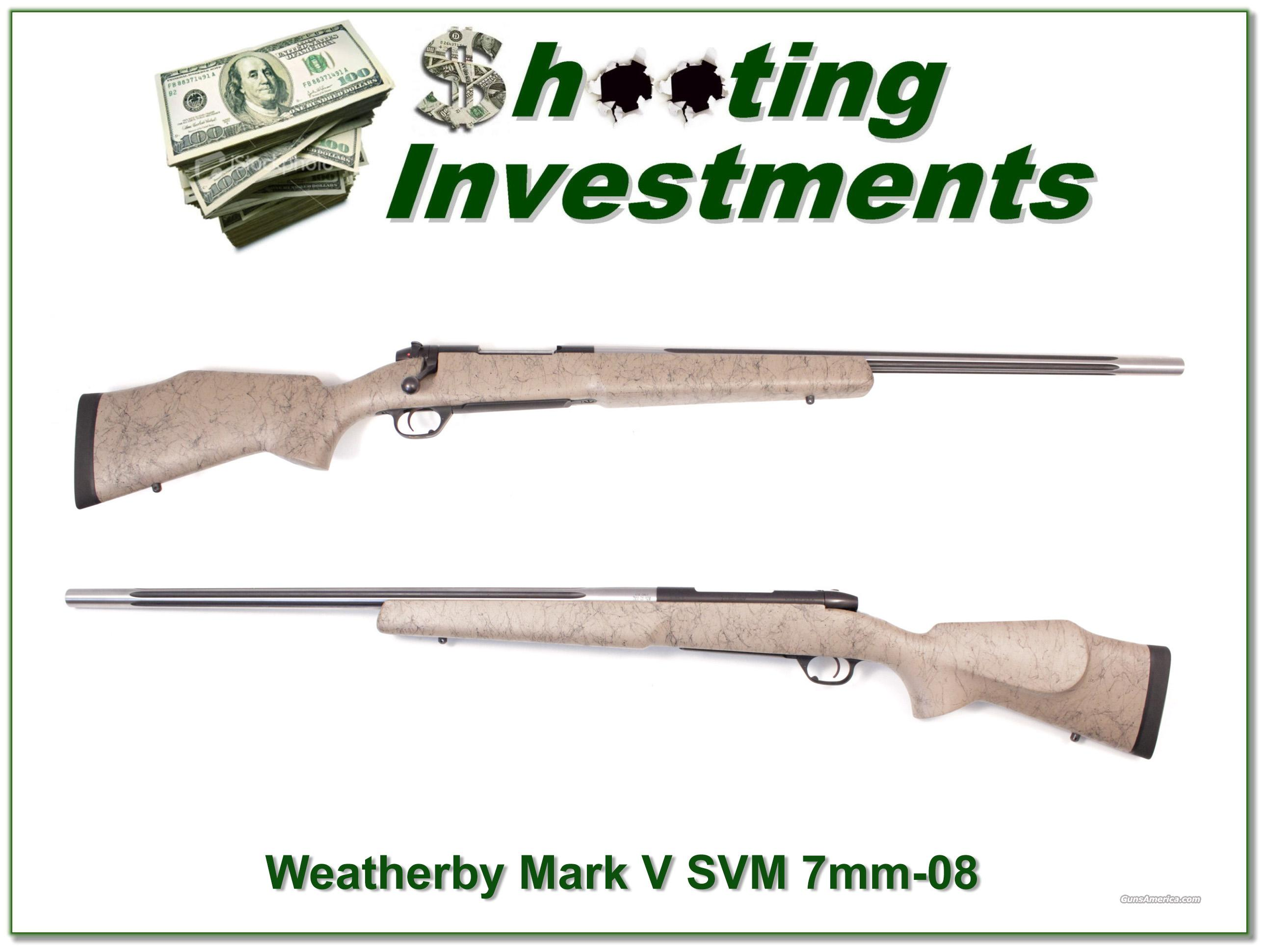 Weatherby Mark V Super Varmintmaster 7mm-08 looks new!  Guns > Rifles > Weatherby Rifles > Sporting
