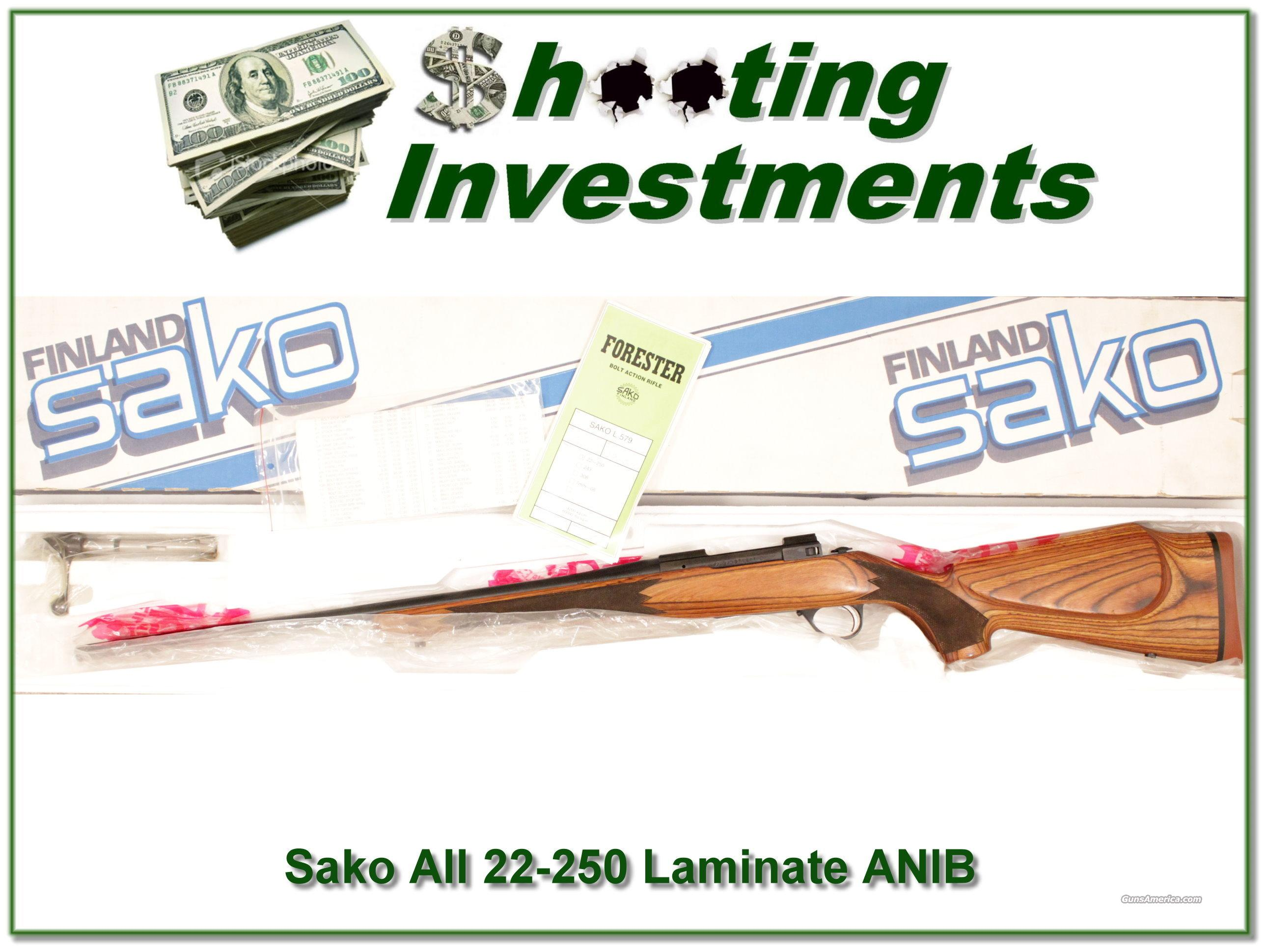 Sako AII 22-250 Laminated ANIB with all papers!  Guns > Rifles > Sako Rifles > Other Bolt Action