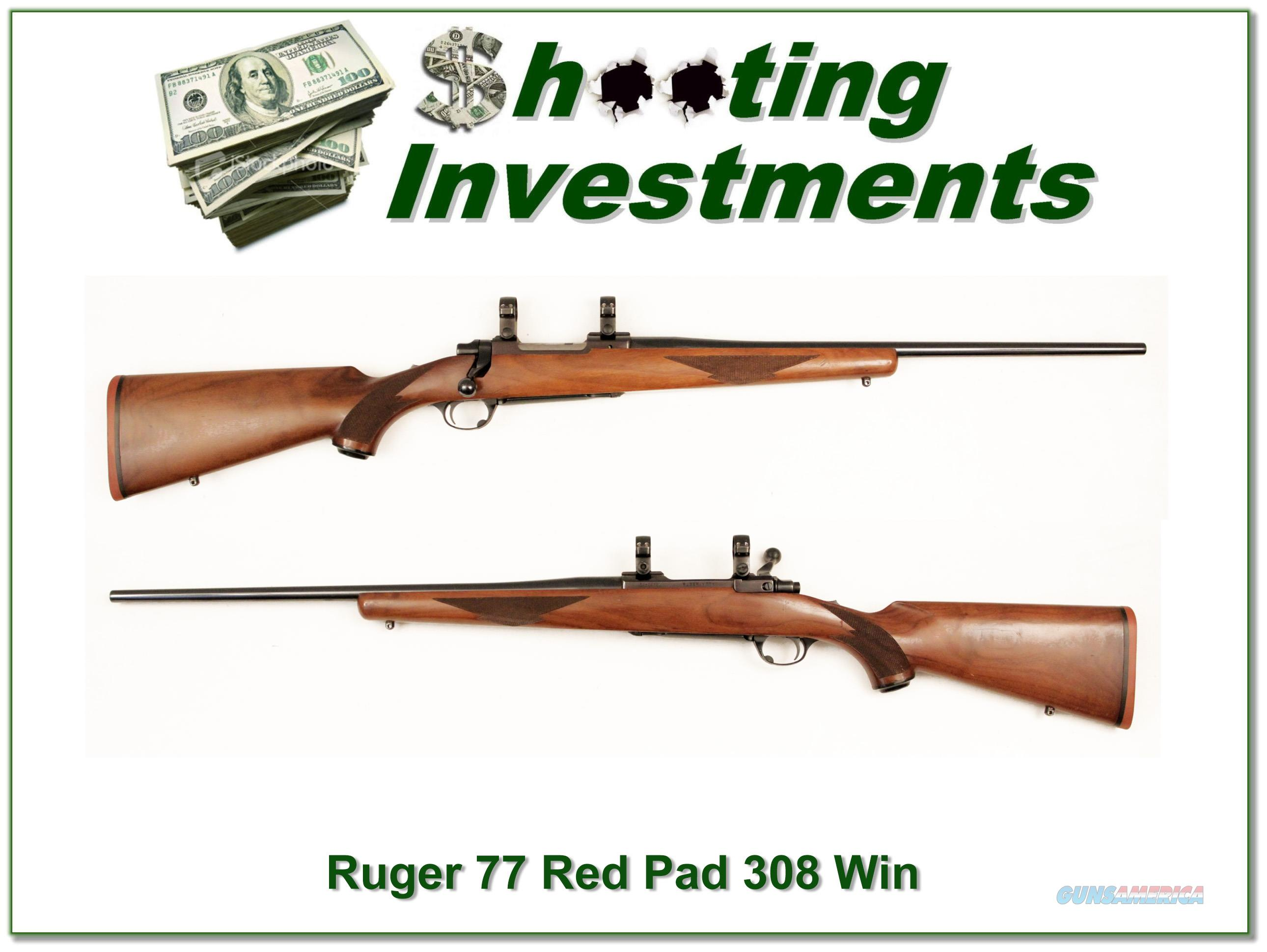 Ruger 77 308 Win older Tang Safety Red Pad!  Guns > Rifles > Ruger Rifles > Model 77