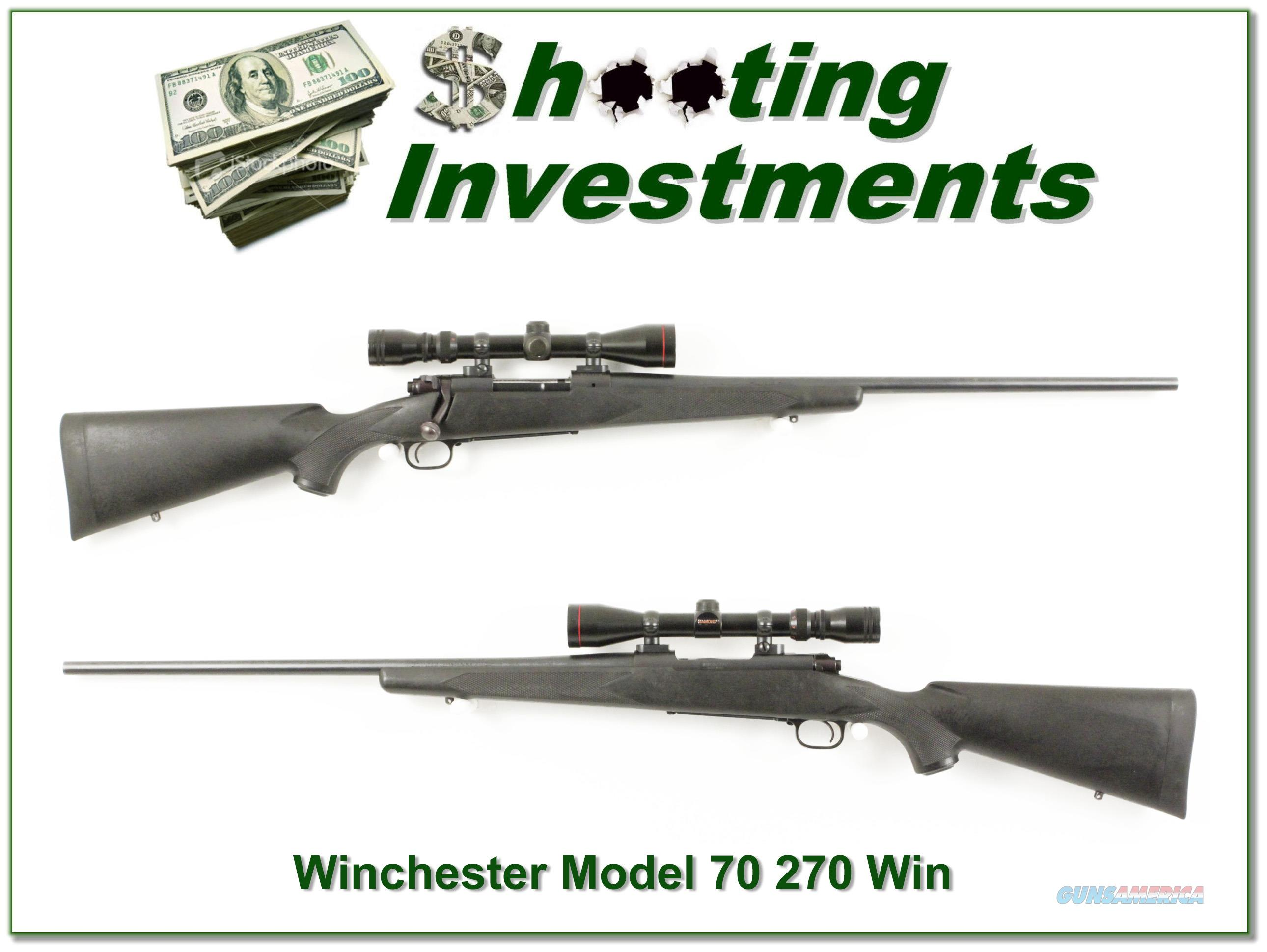Winchester 70 Classic SM 270 Exc Cond Scope!  Guns > Rifles > Winchester Rifles - Modern Bolt/Auto/Single > Model 70 > Post-64