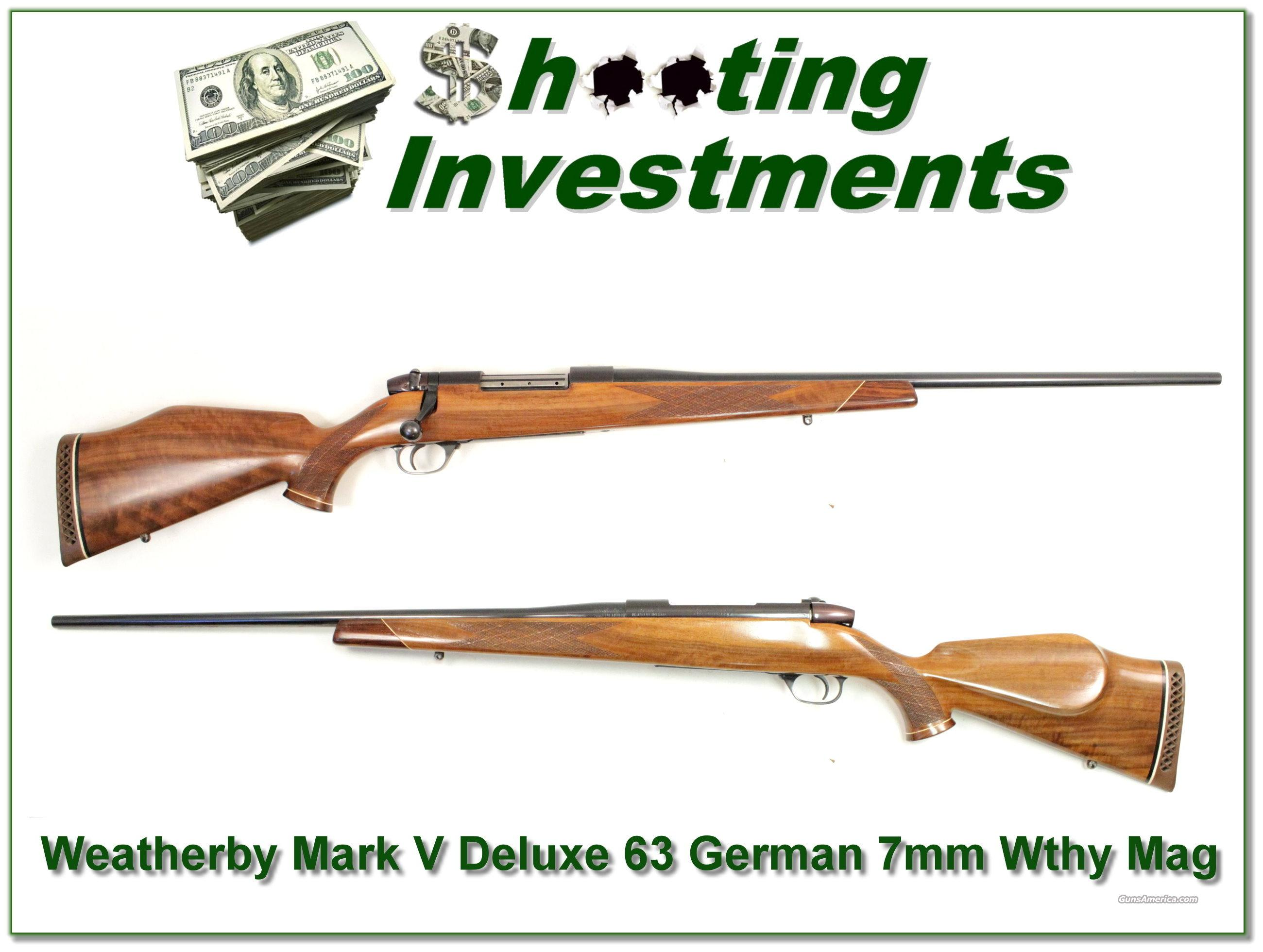 Weatherby Mark V Deluxe 7mm Wthy Mag 1963 German!  Guns > Rifles > Weatherby Rifles > Sporting
