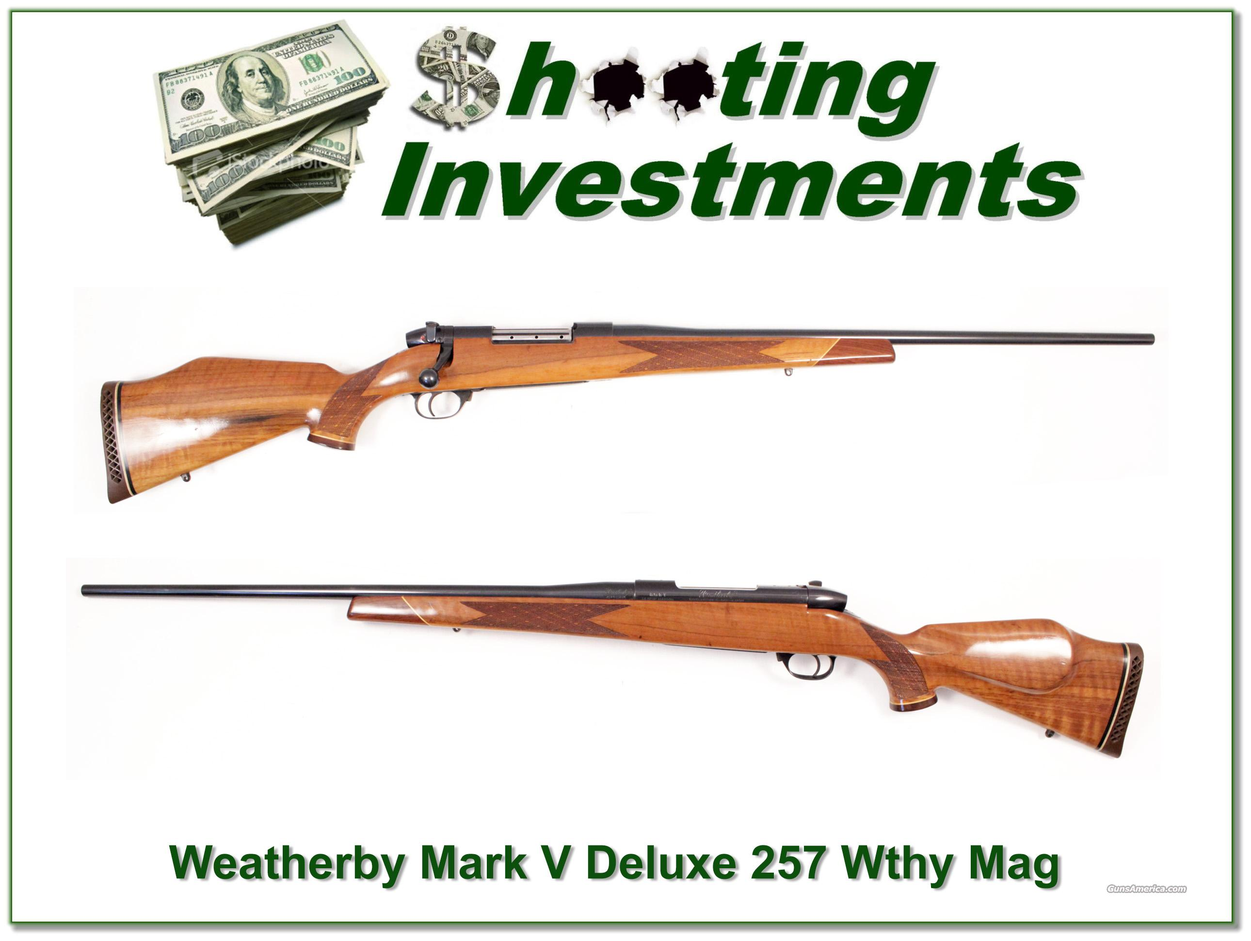 Weatherby Mark V Deluxe 257 Wthy Magnum  Guns > Rifles > Weatherby Rifles > Sporting