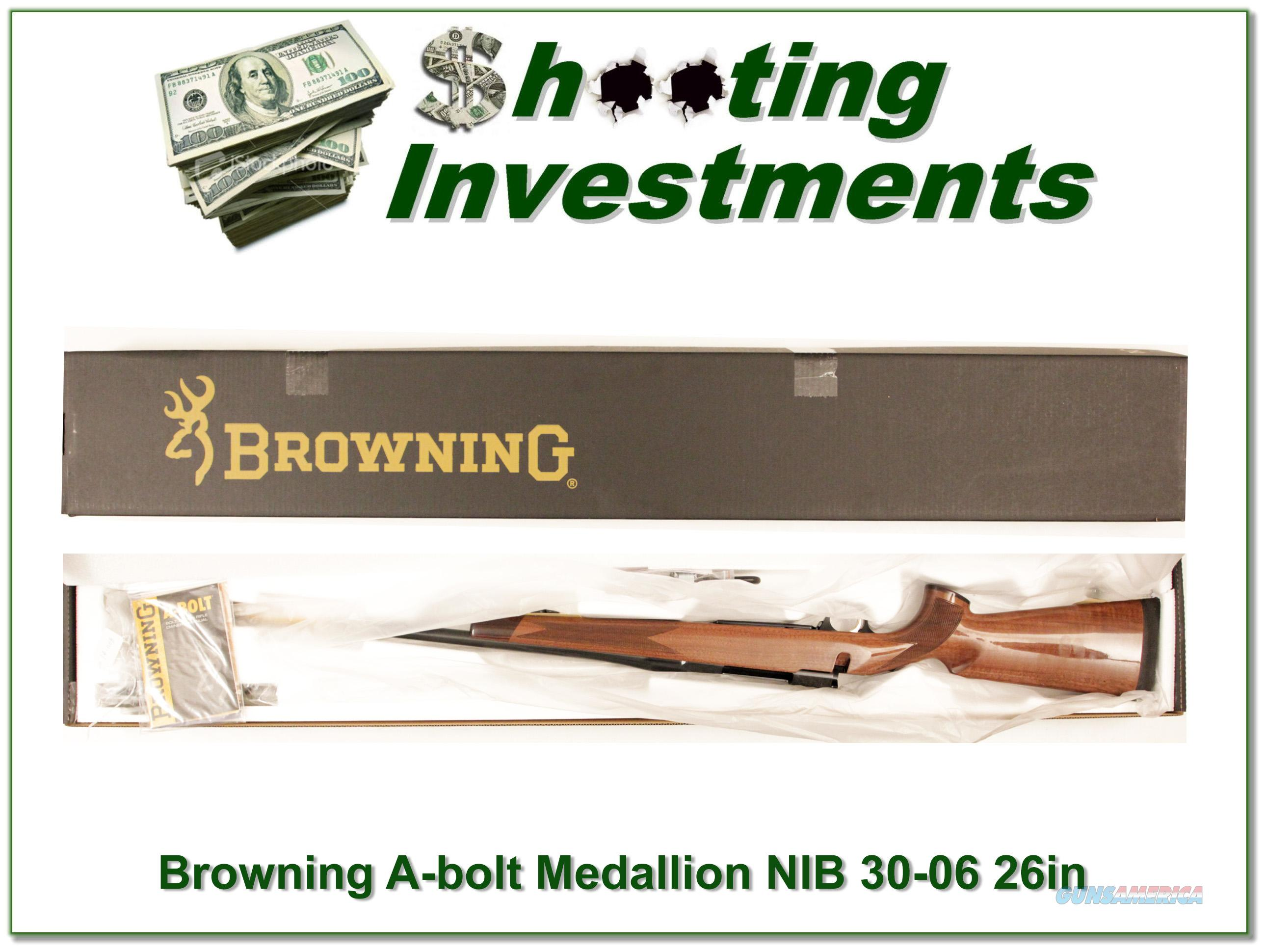 Browning A-bolt II Medallion 30-06 Win last ones!  Guns > Rifles > Browning Rifles > Bolt Action > Hunting > Blue