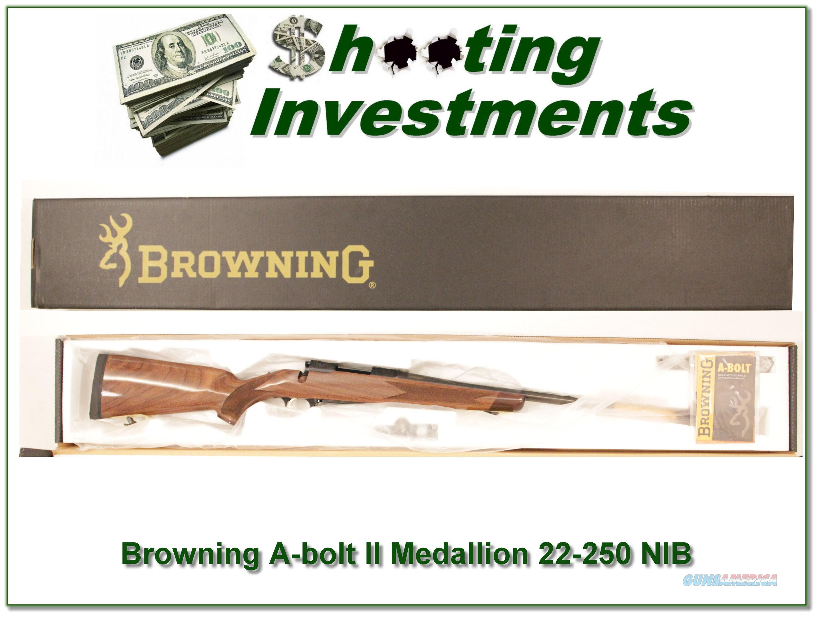 Browning A-bolt II Medallion 22-250 Rem last ones!  Guns > Rifles > Browning Rifles > Bolt Action > Hunting > Blue