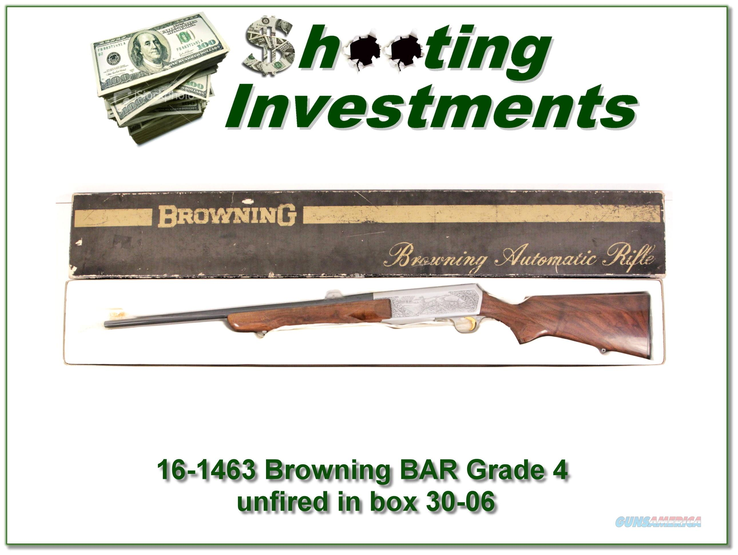 Browning BAR Grade 4 30-06 unfired full Belgium  Guns > Rifles > Browning Rifles > Semi Auto > Hunting