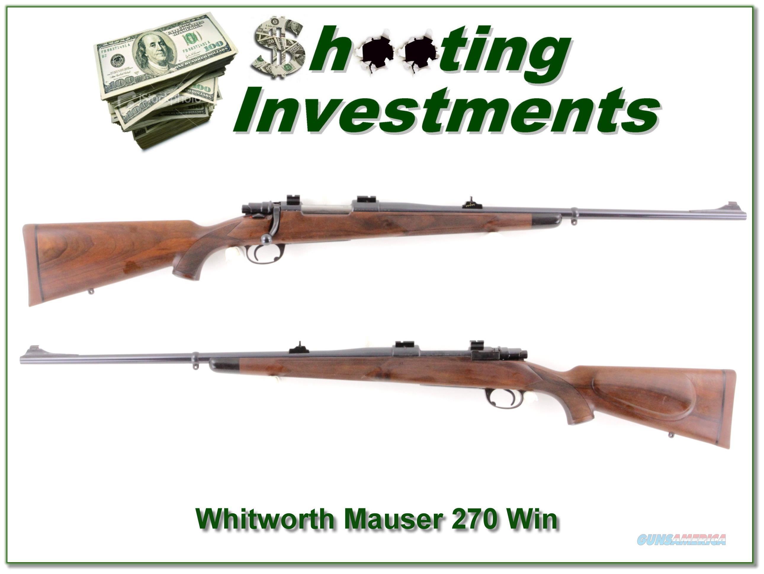 Whitworth Interarms Mauser Classic Safari 270 Win  Guns > Rifles > Interarms Rifles