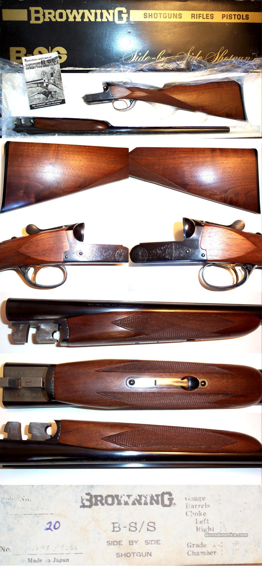 Browning BSS Sporter 20 gauge NIB  Guns > Shotguns > Browning Shotguns > Side by Sides